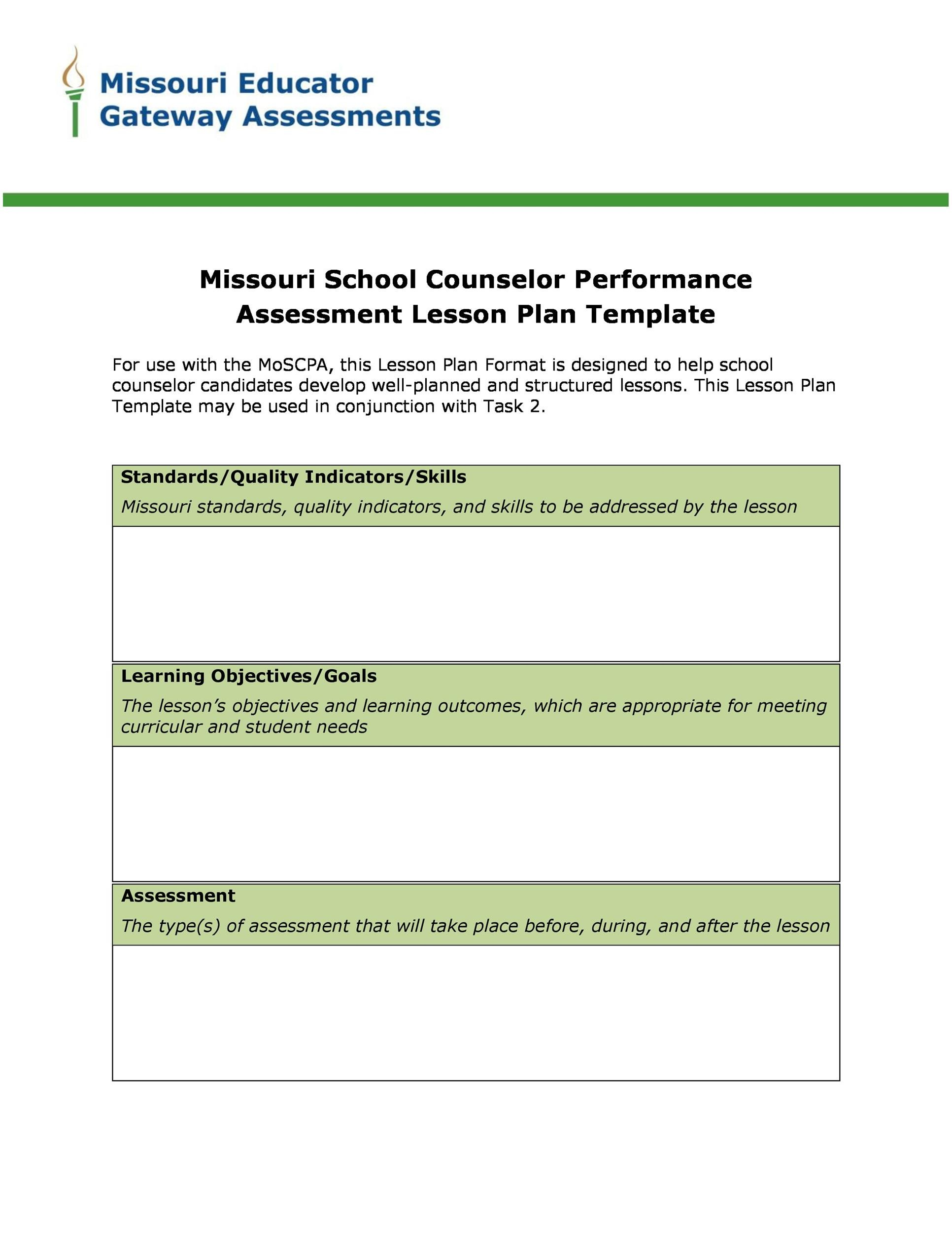 Free lesson plan template 23