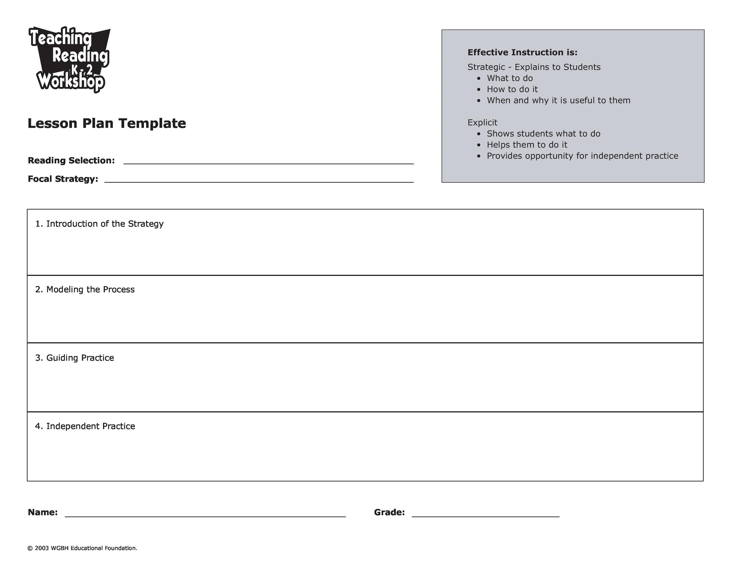 Free lesson plan template 24