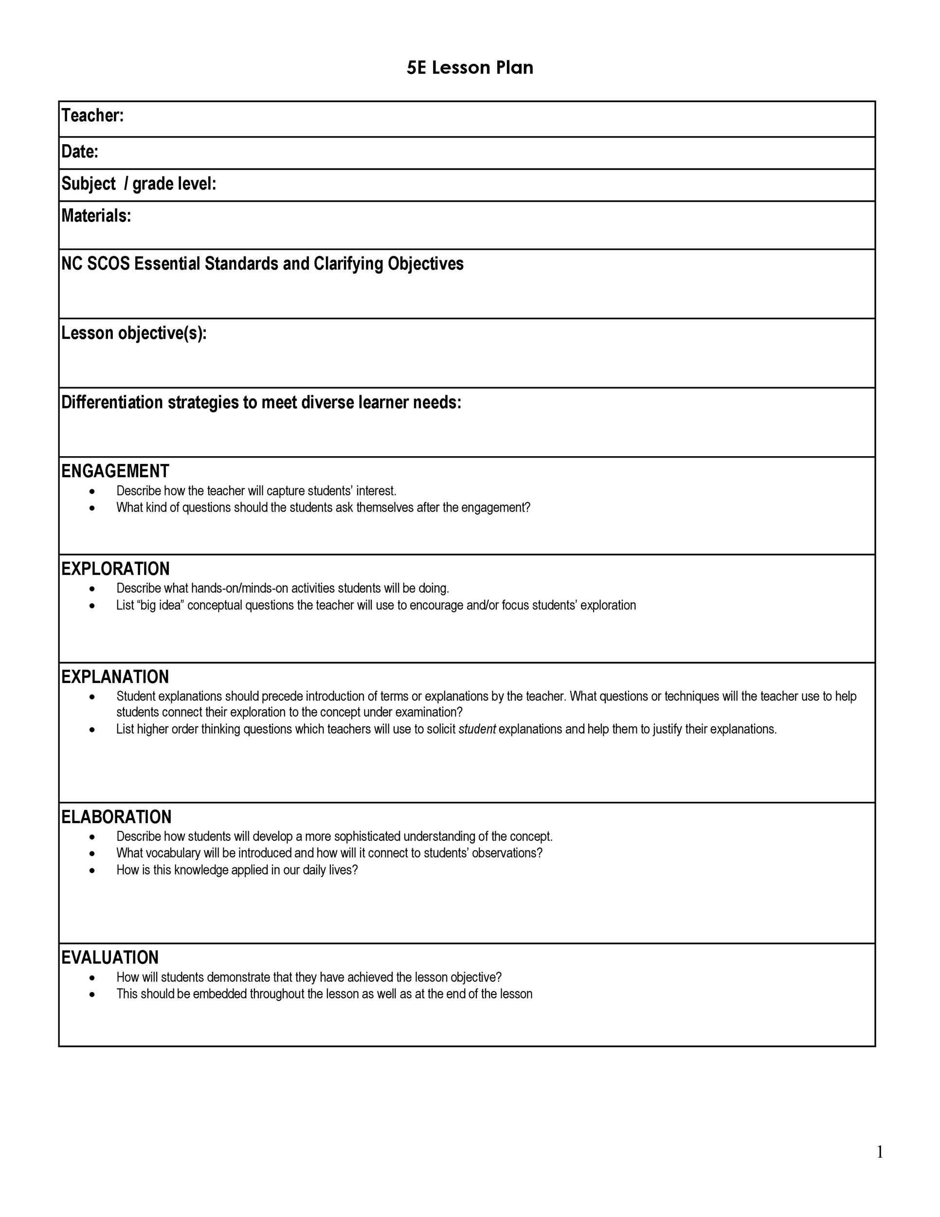 Free lesson plan template 35