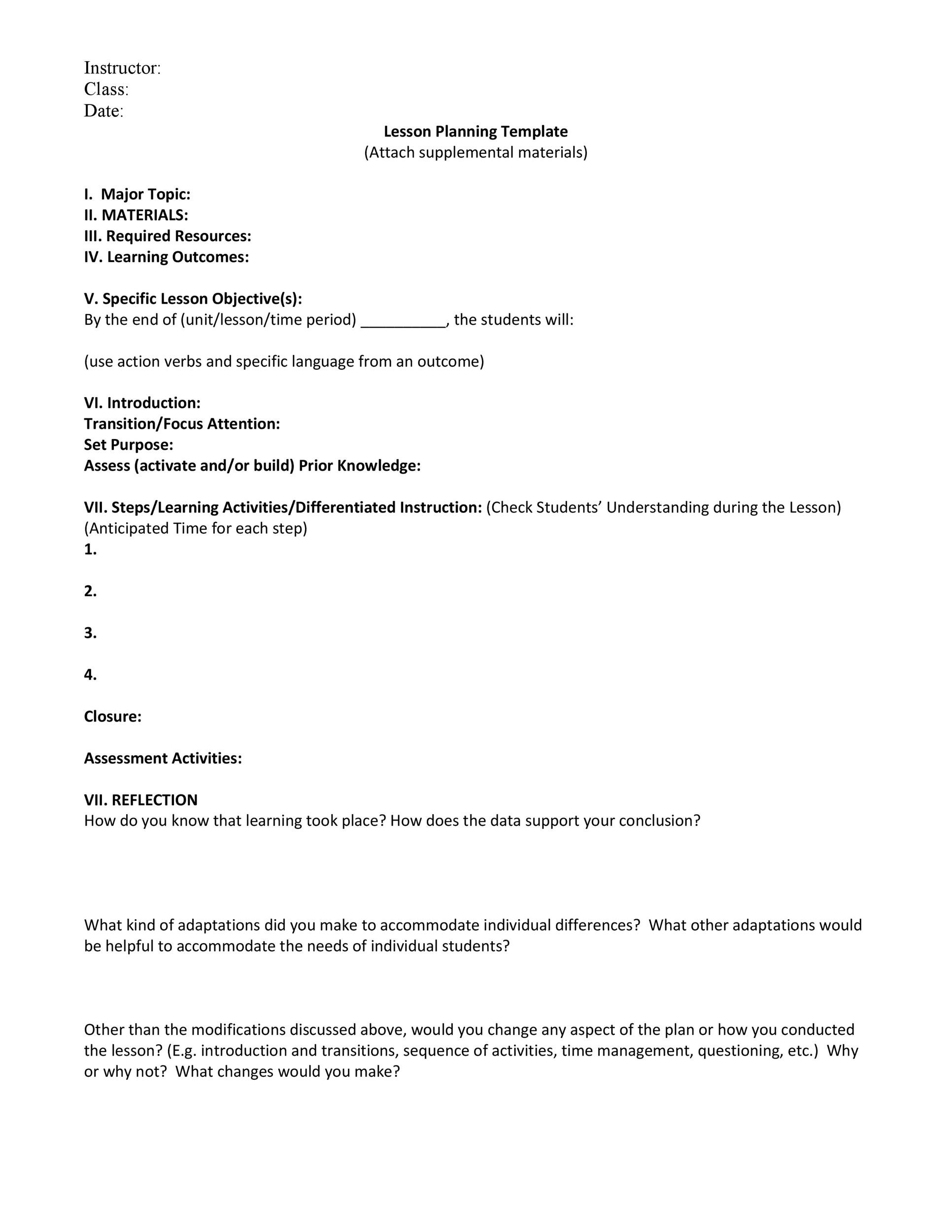 online lesson plan template maths equinetherapies co