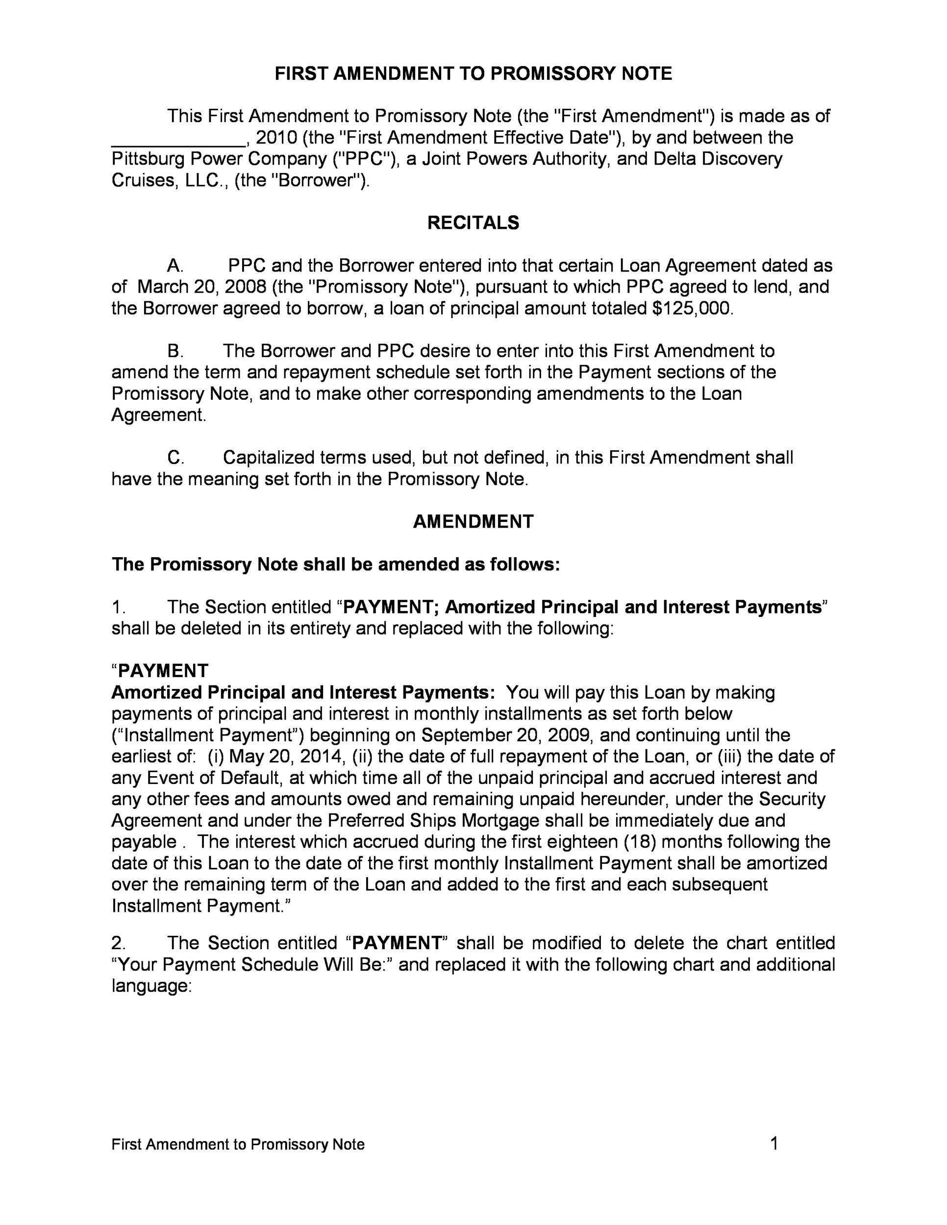 Printable Promissory Note Template 03  Legal Promise To Pay Document