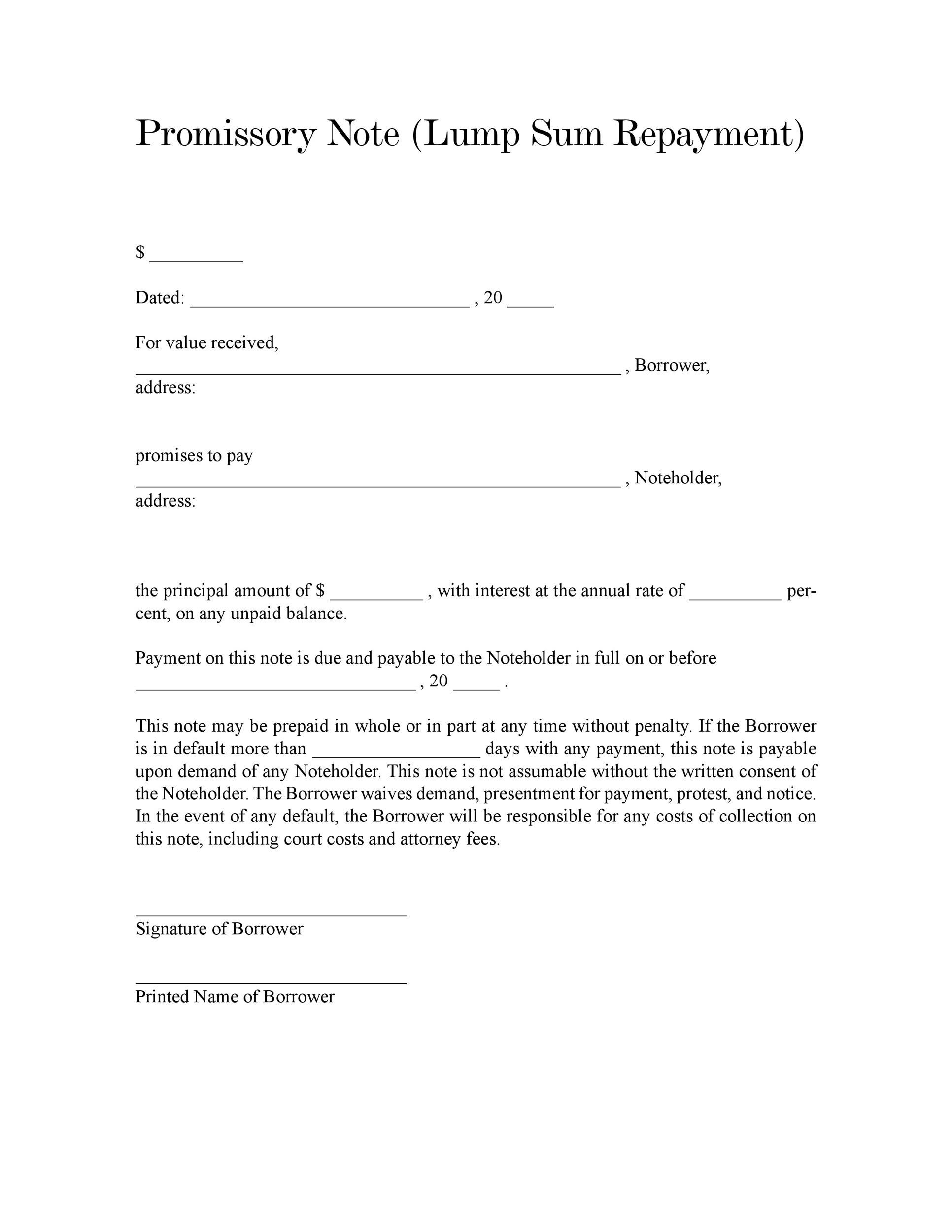 Wonderful Printable Promissory Note Template 17 Pertaining To Draft Of Promissory Note
