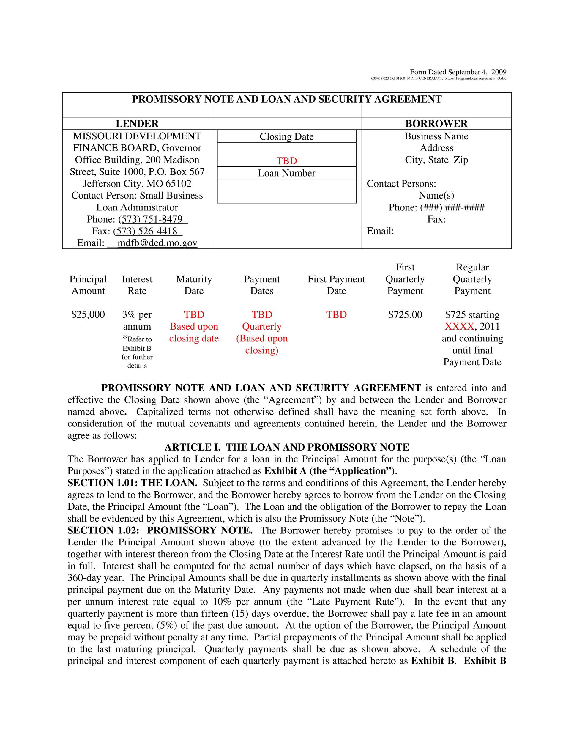 Printable Promissory Note Template 20  Promisary Note Template