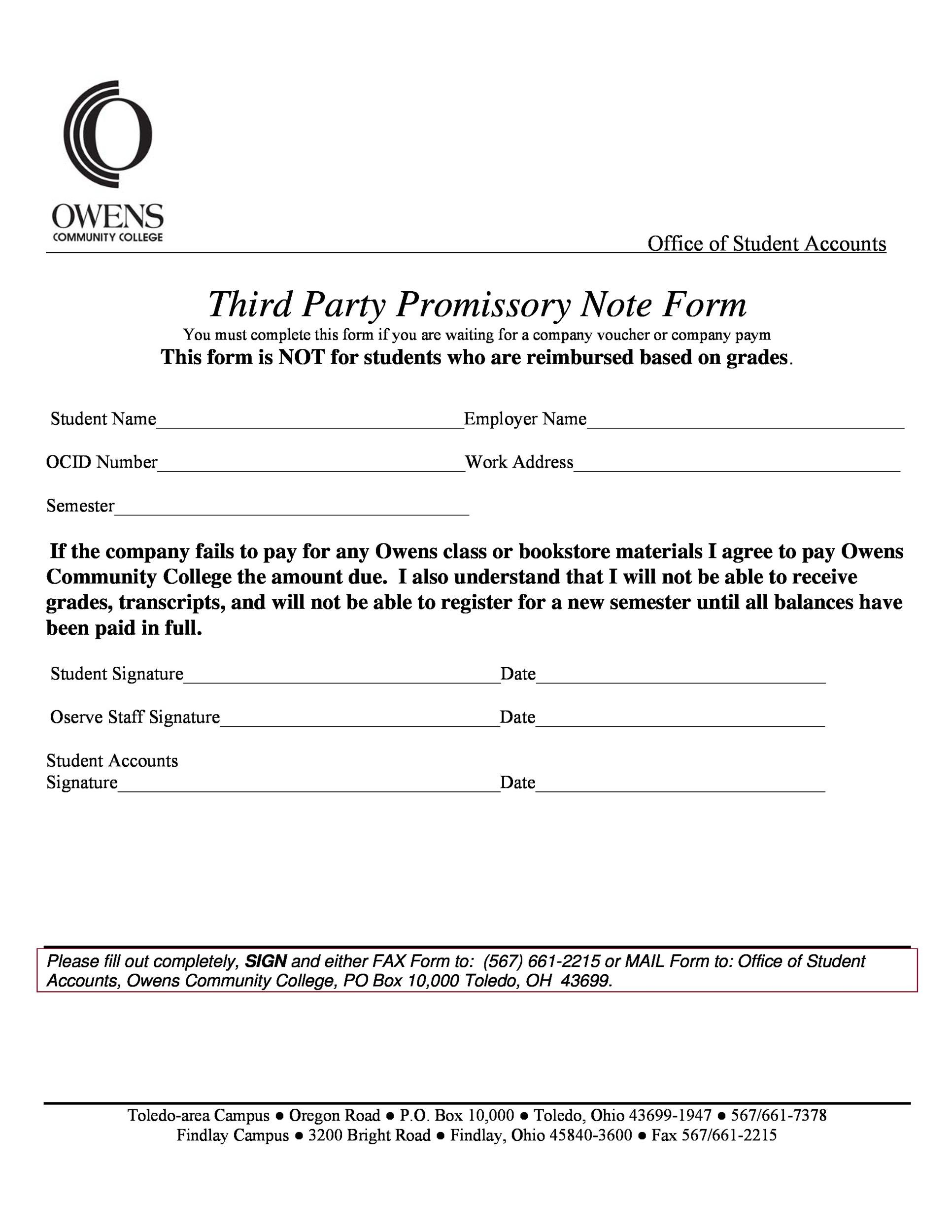Printable Promissory Note Template 22  Promisory Note Sample
