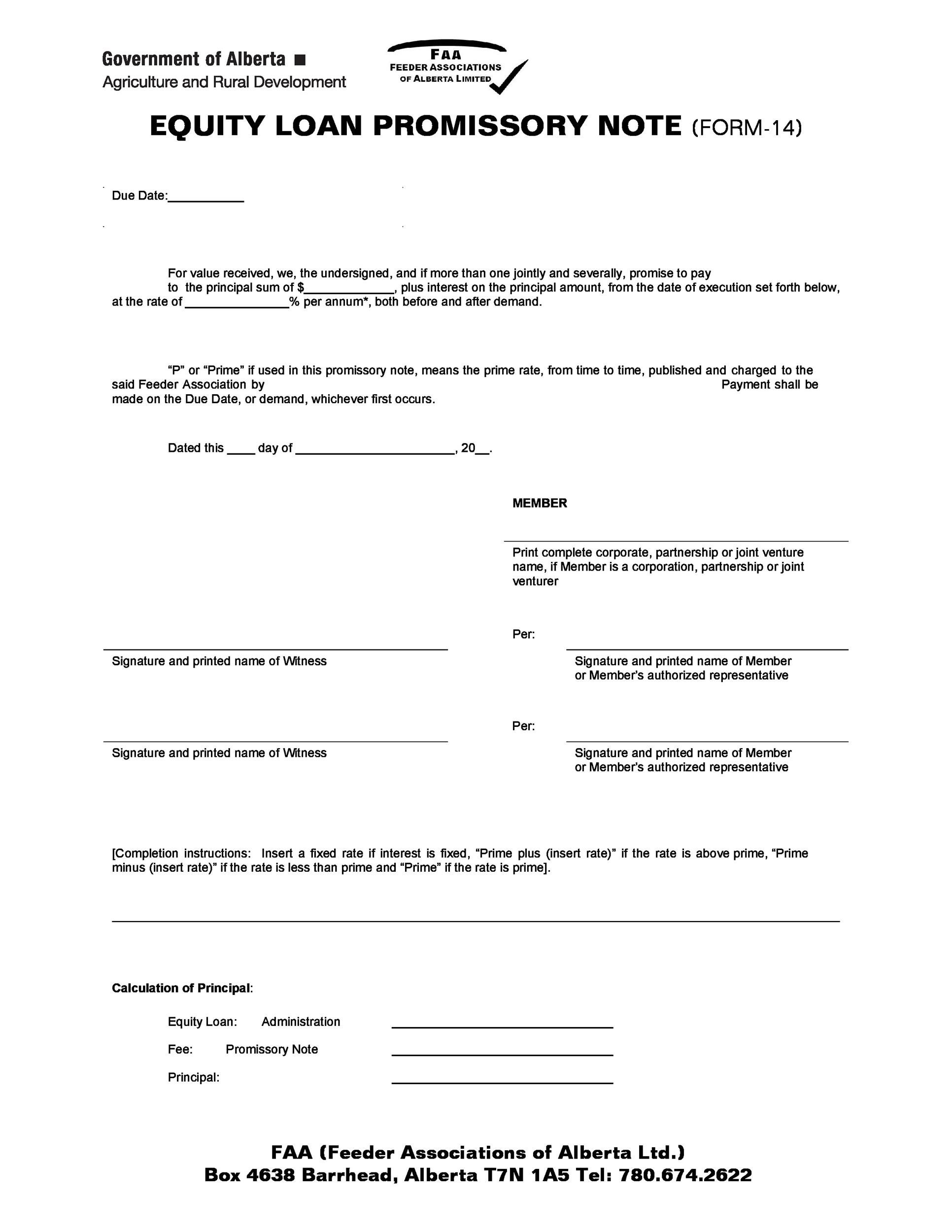 Printable Promissory Note Template 29  Free Printable Promissory Note Template