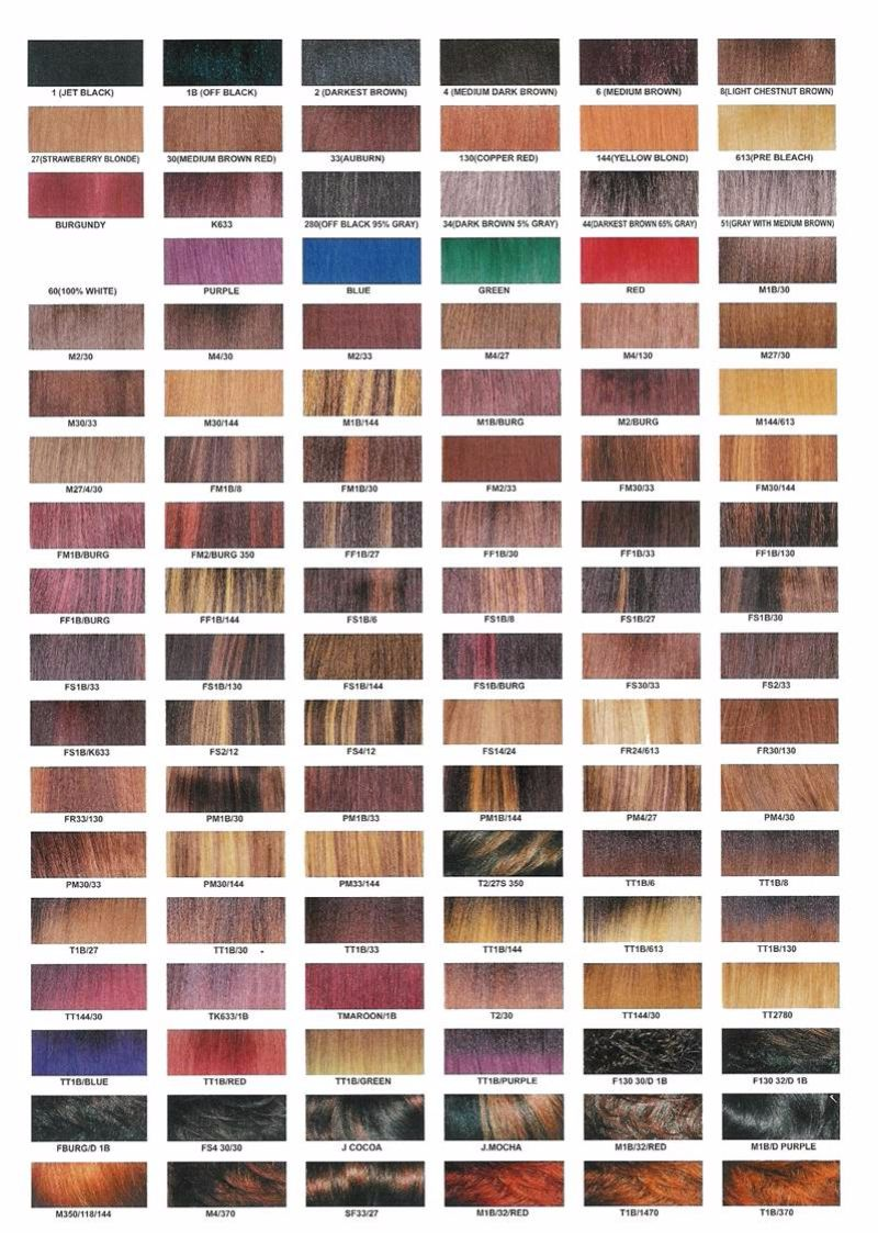 Free Redken color chart 01