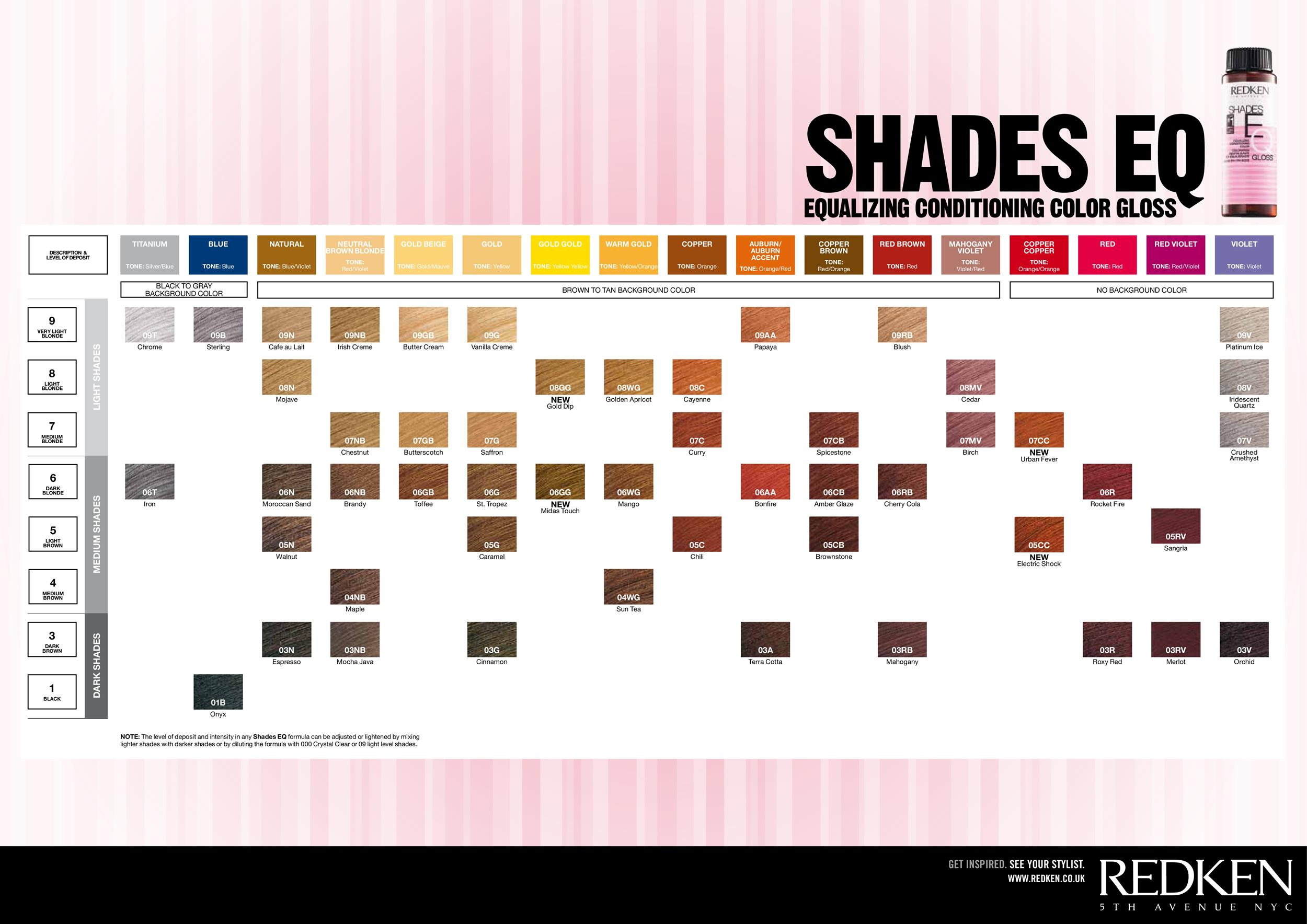 Redken Shades Eq Hair Color Chart | Om Hair