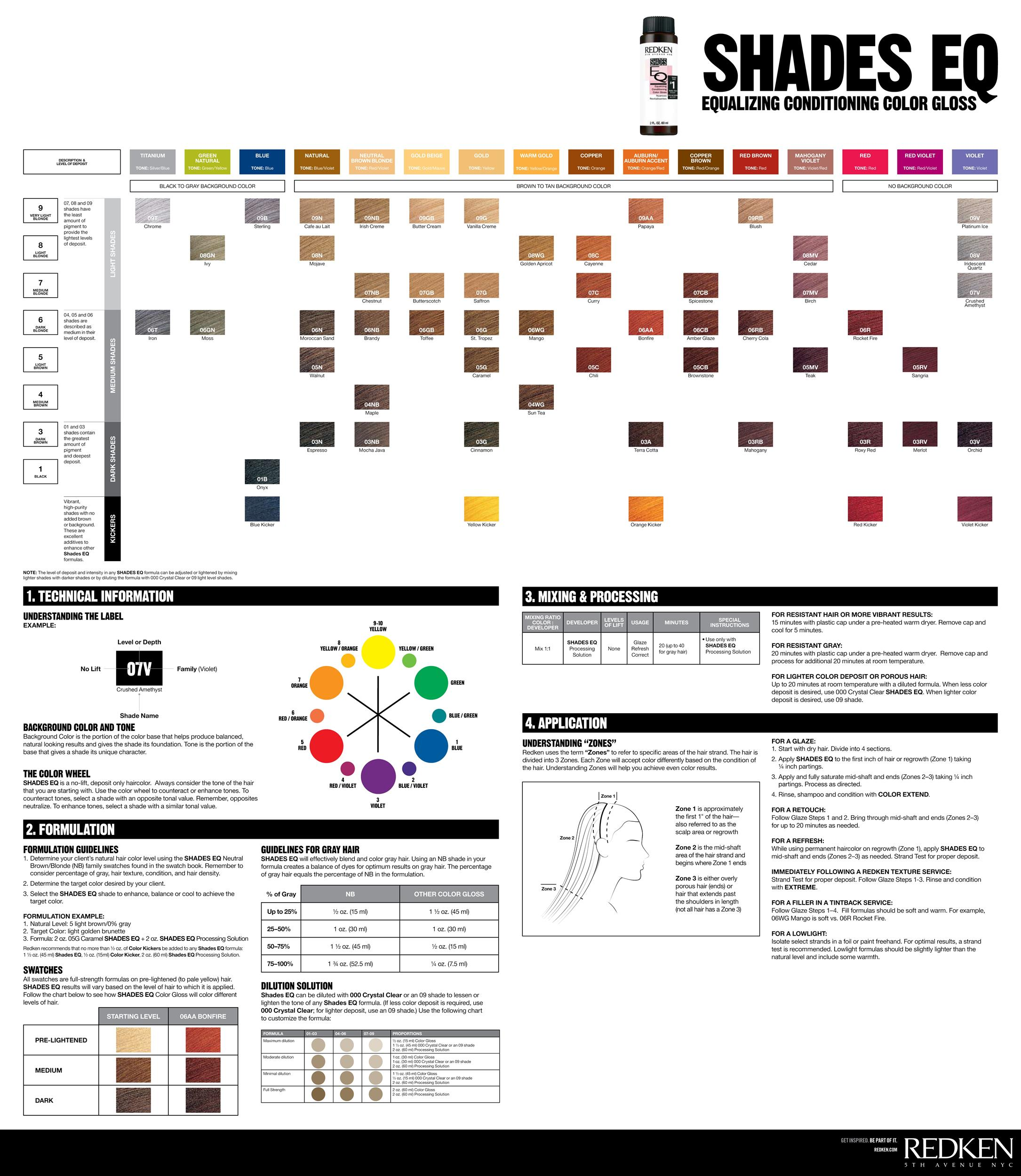 Shades Eq Color Chart Free Redken 15