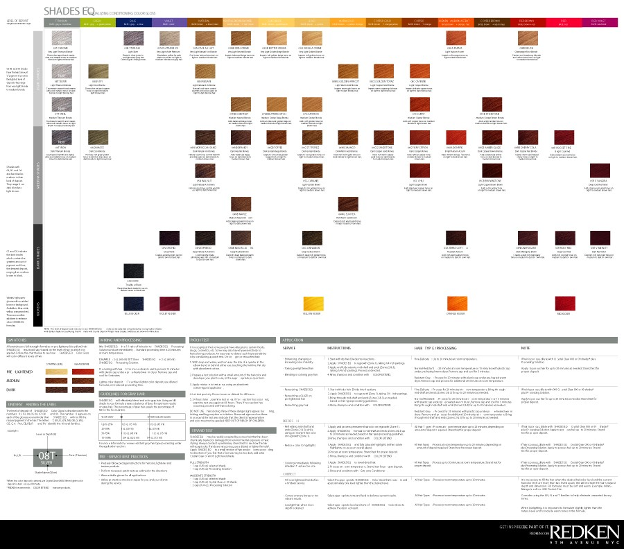 Free Redken color chart 16