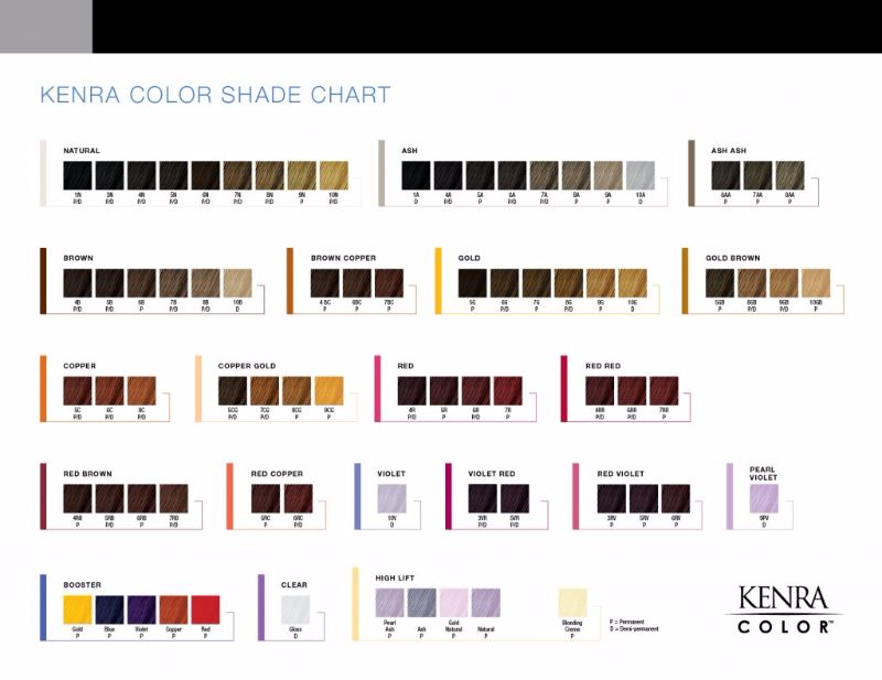 Free Redken color chart 23