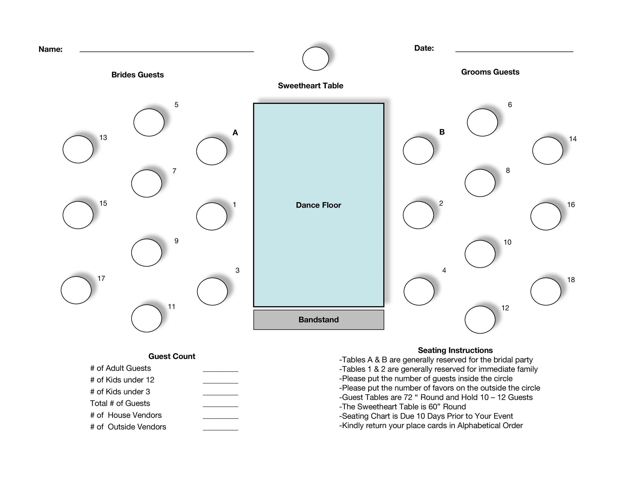 Round Table Seating Chart Template from templatelab.com
