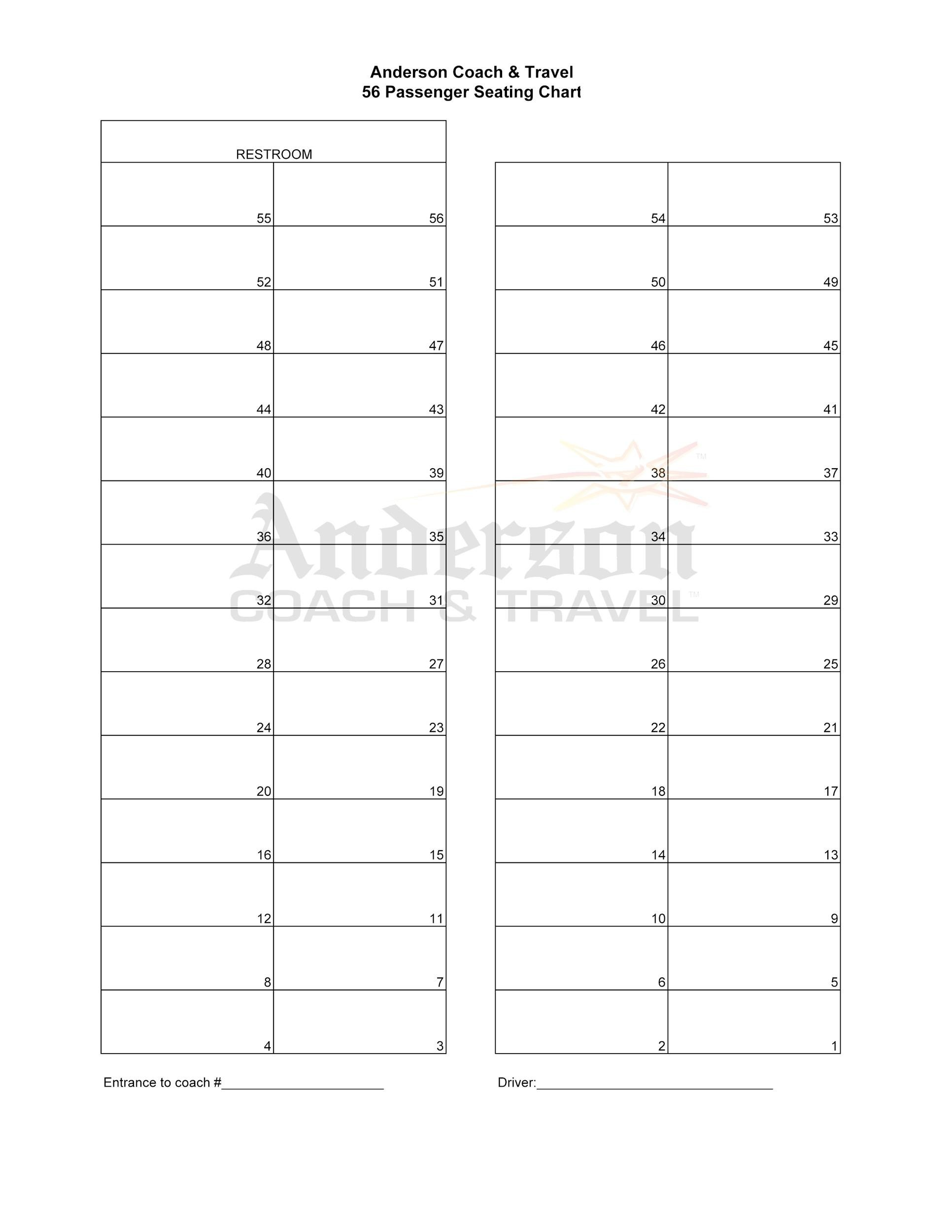 Free Seating Chart Template 02