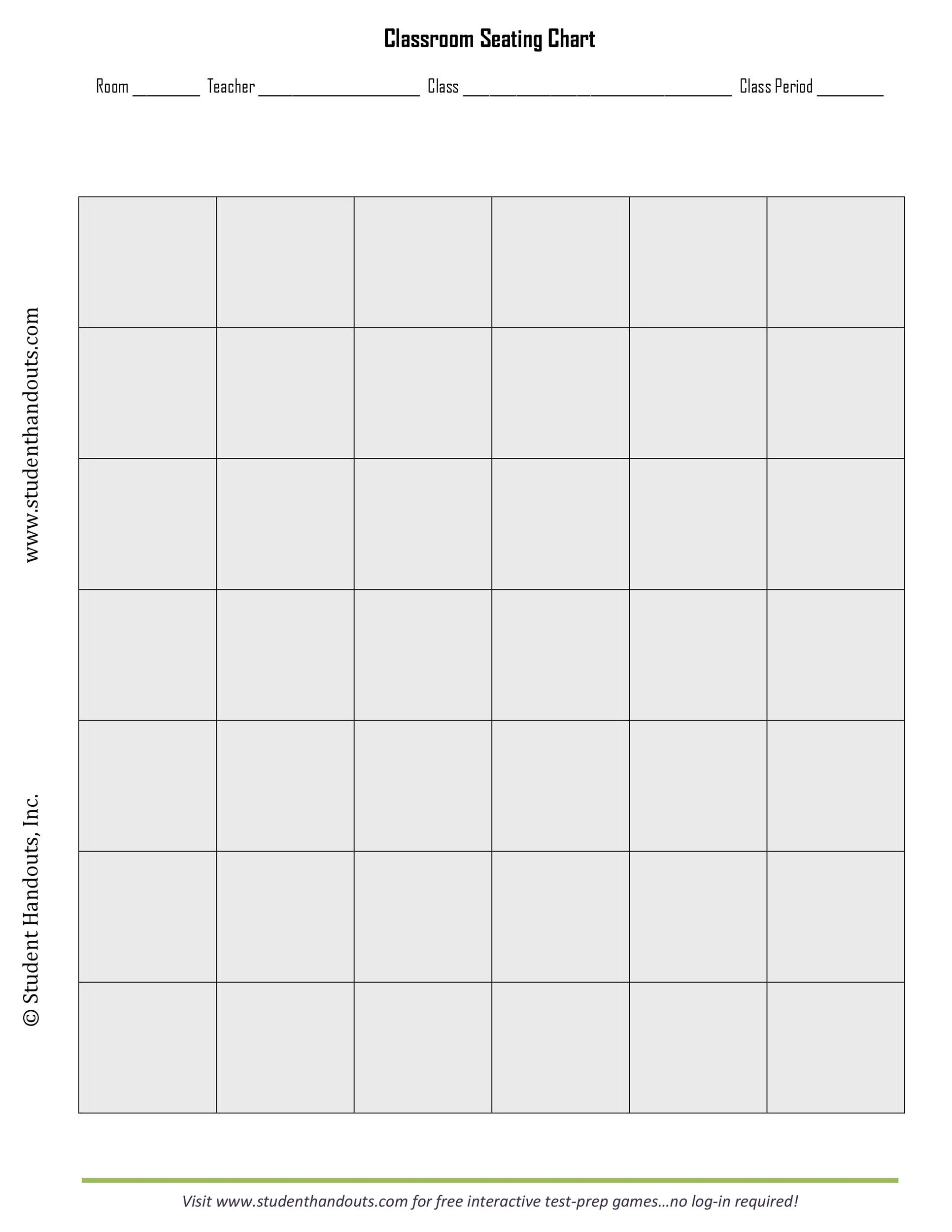 Free seating chart template 04