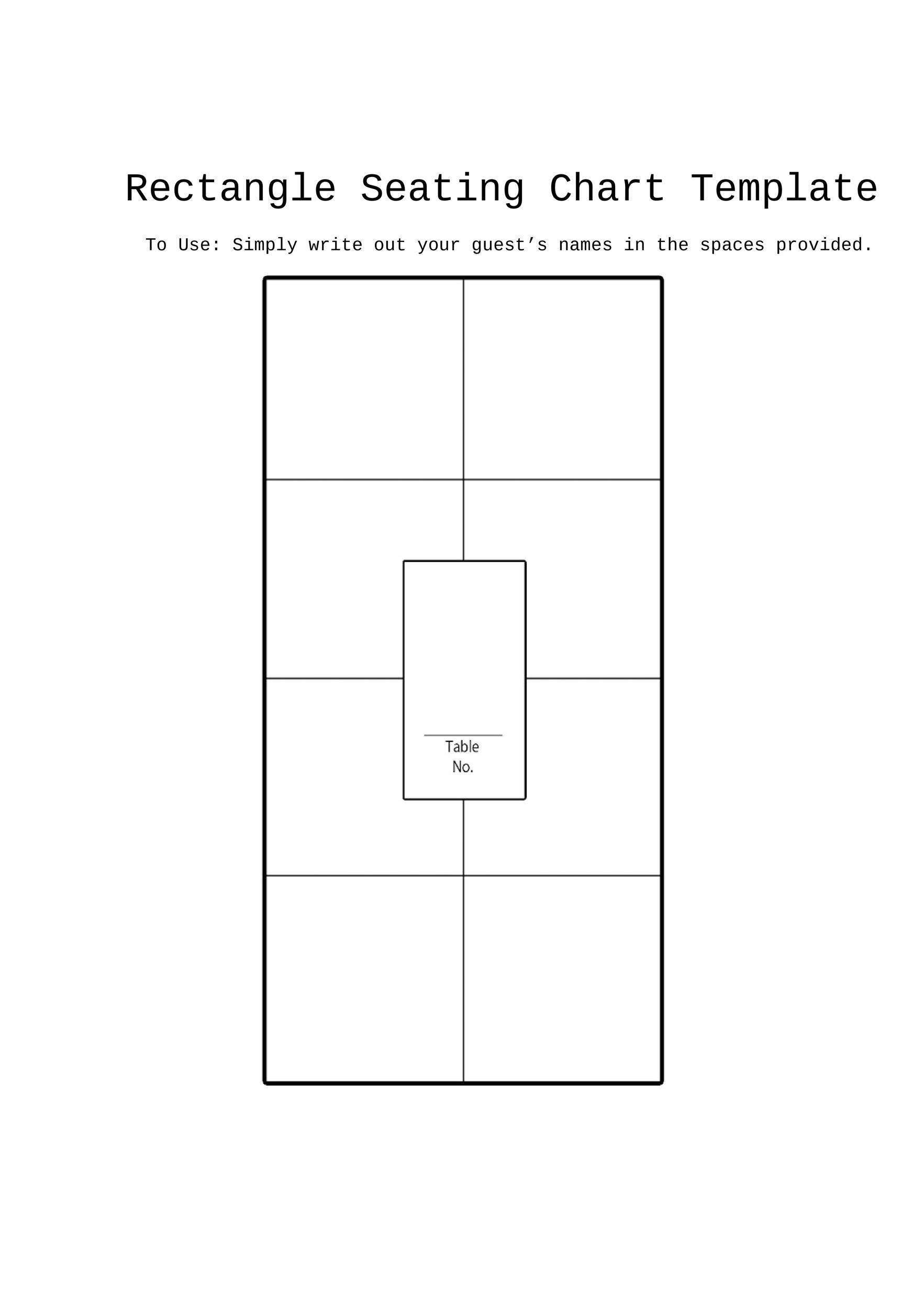 free seating chart template 07 printable - Free Printable Wedding Seating Chart Template