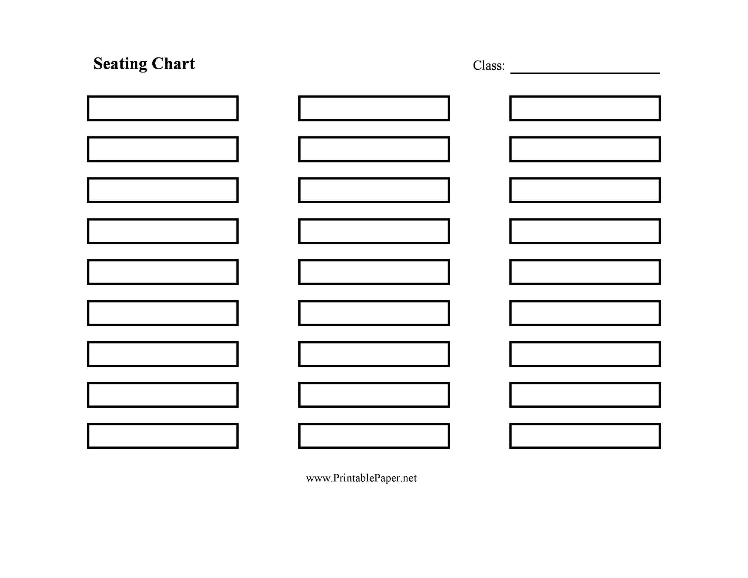 Free seating chart template 14