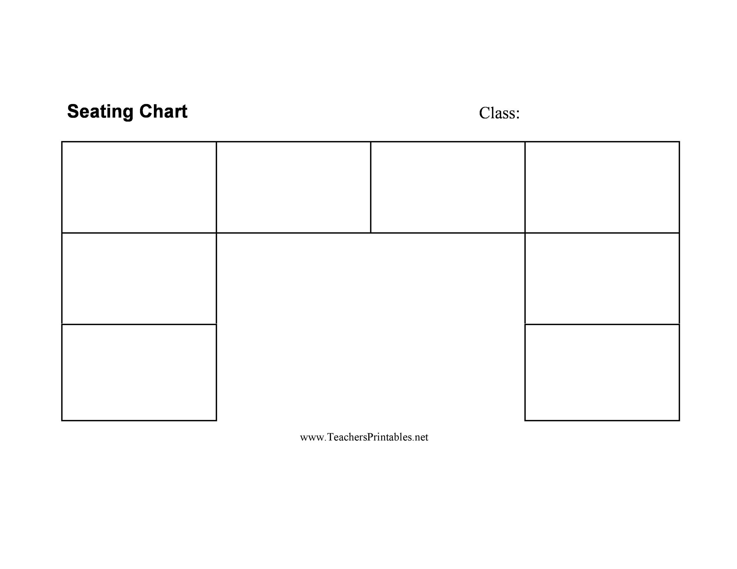 Free seating chart template 15