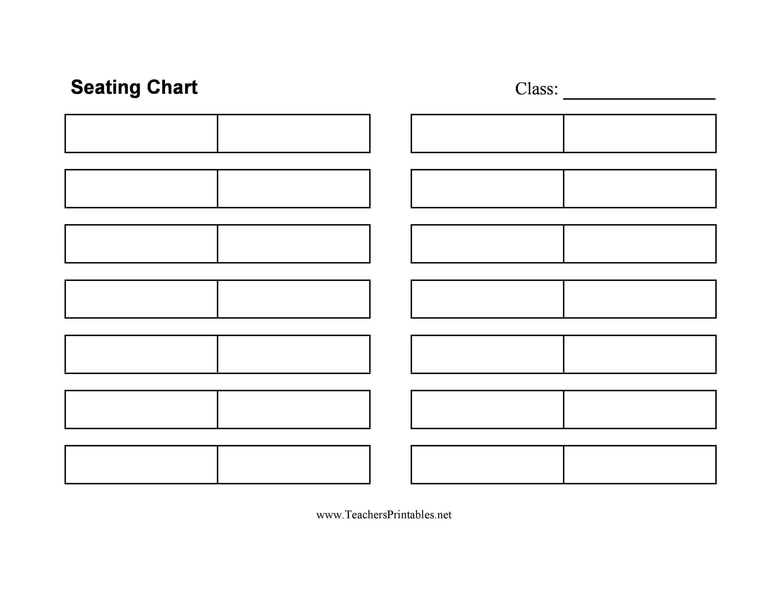 Free seating chart template 16
