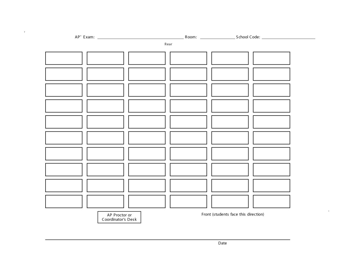Free seating chart template 19