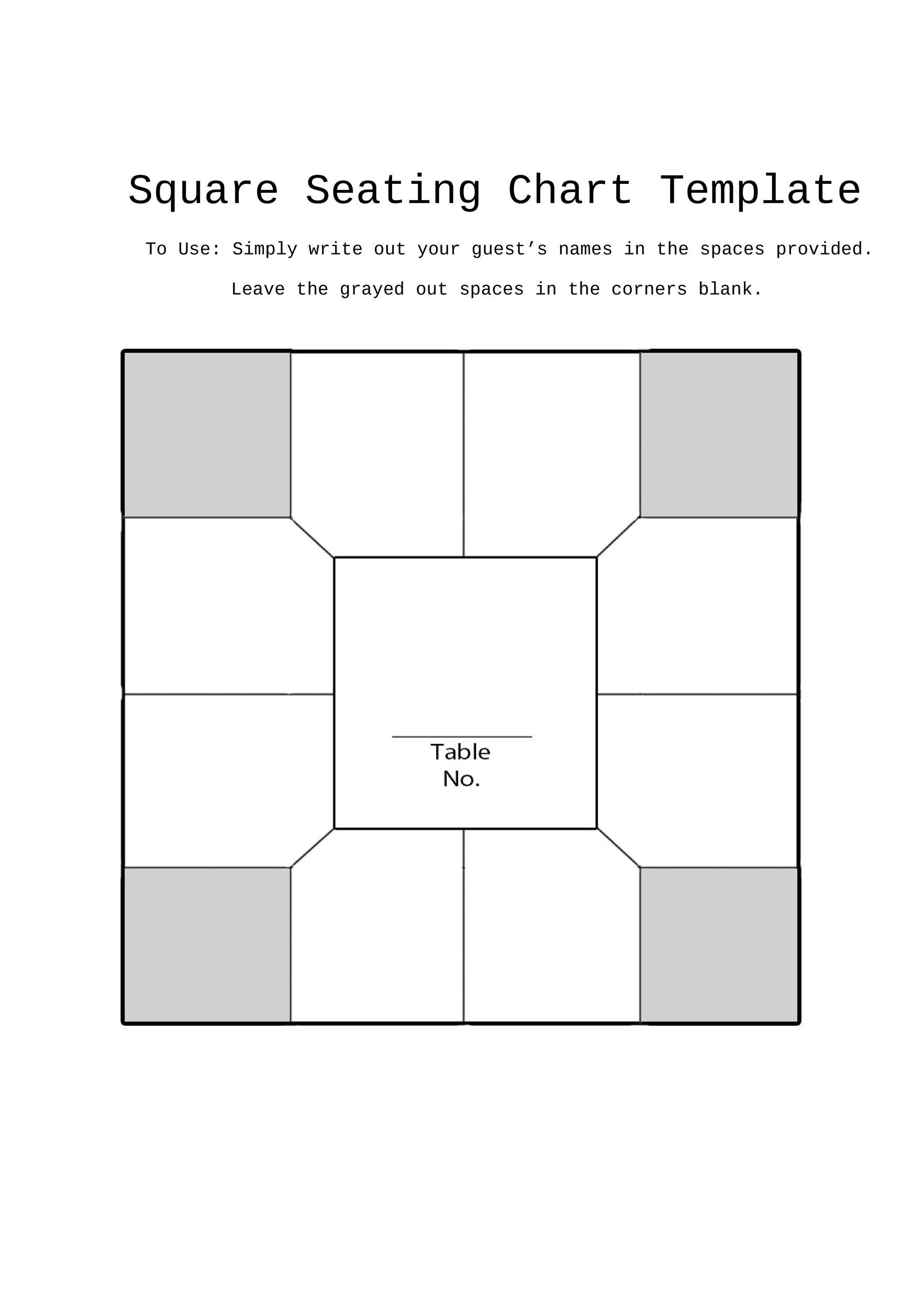 Free seating chart template 22