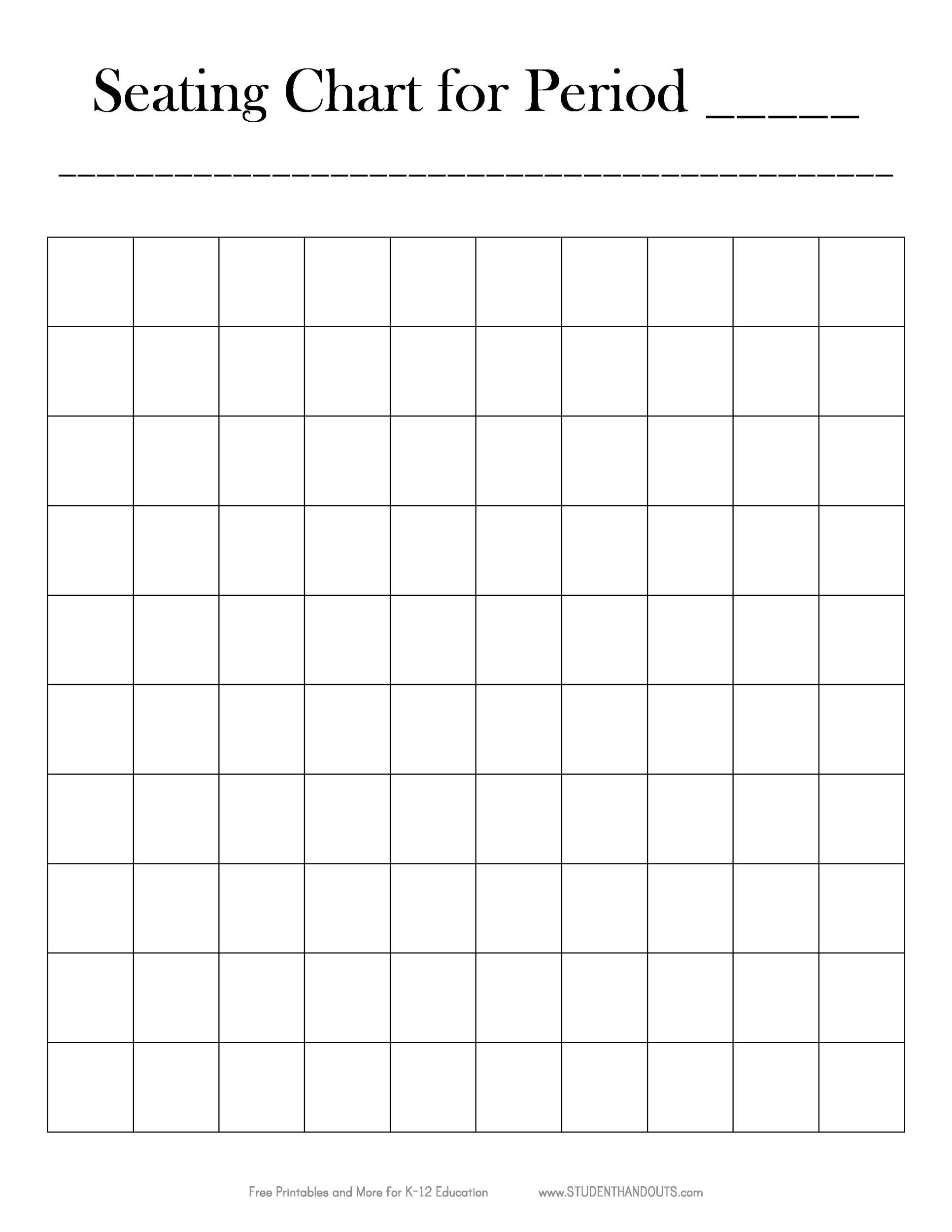 Free Seating Chart Template 23