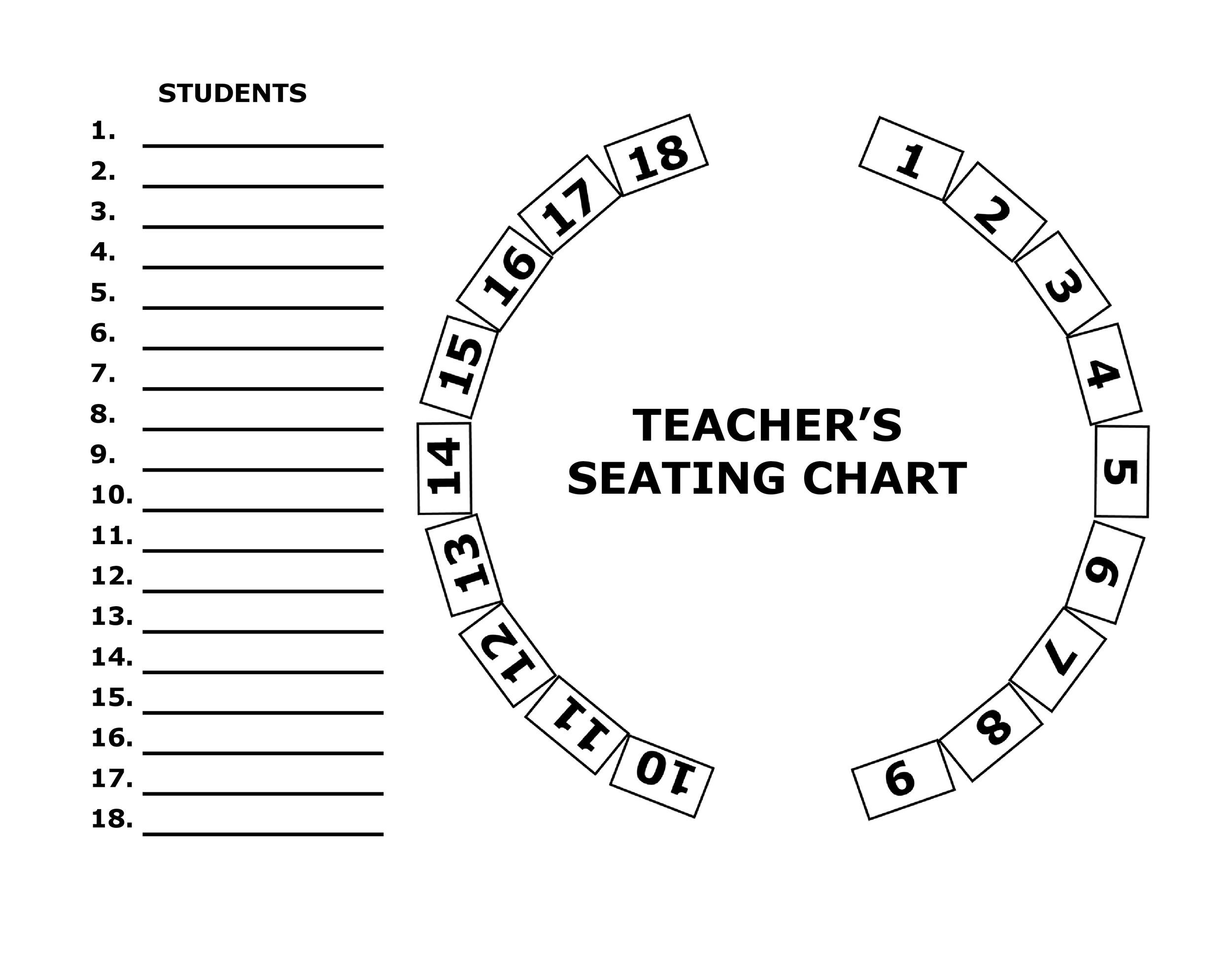 Free seating chart template 26