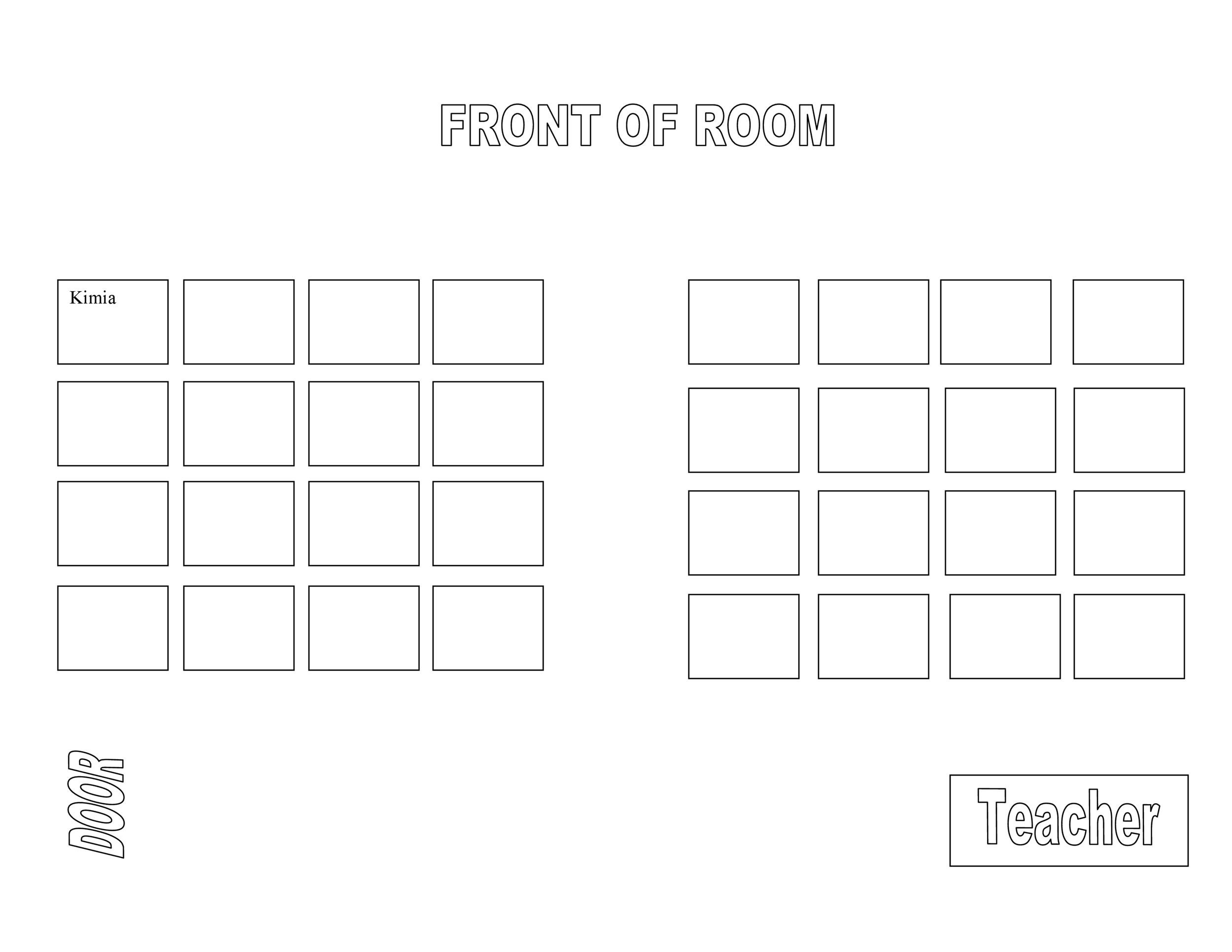 Candid image in printable seating chart template
