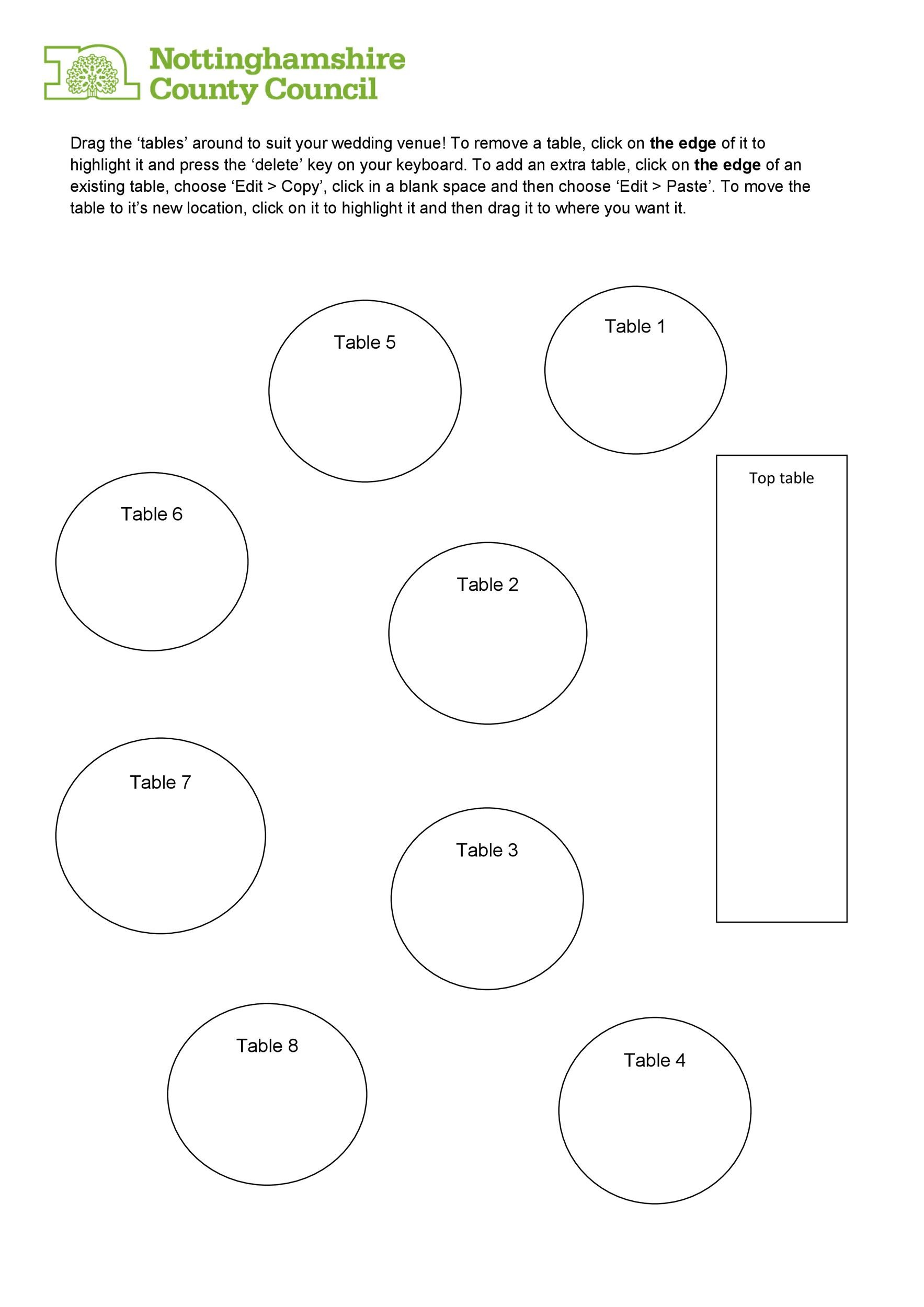 Free seating chart template 28