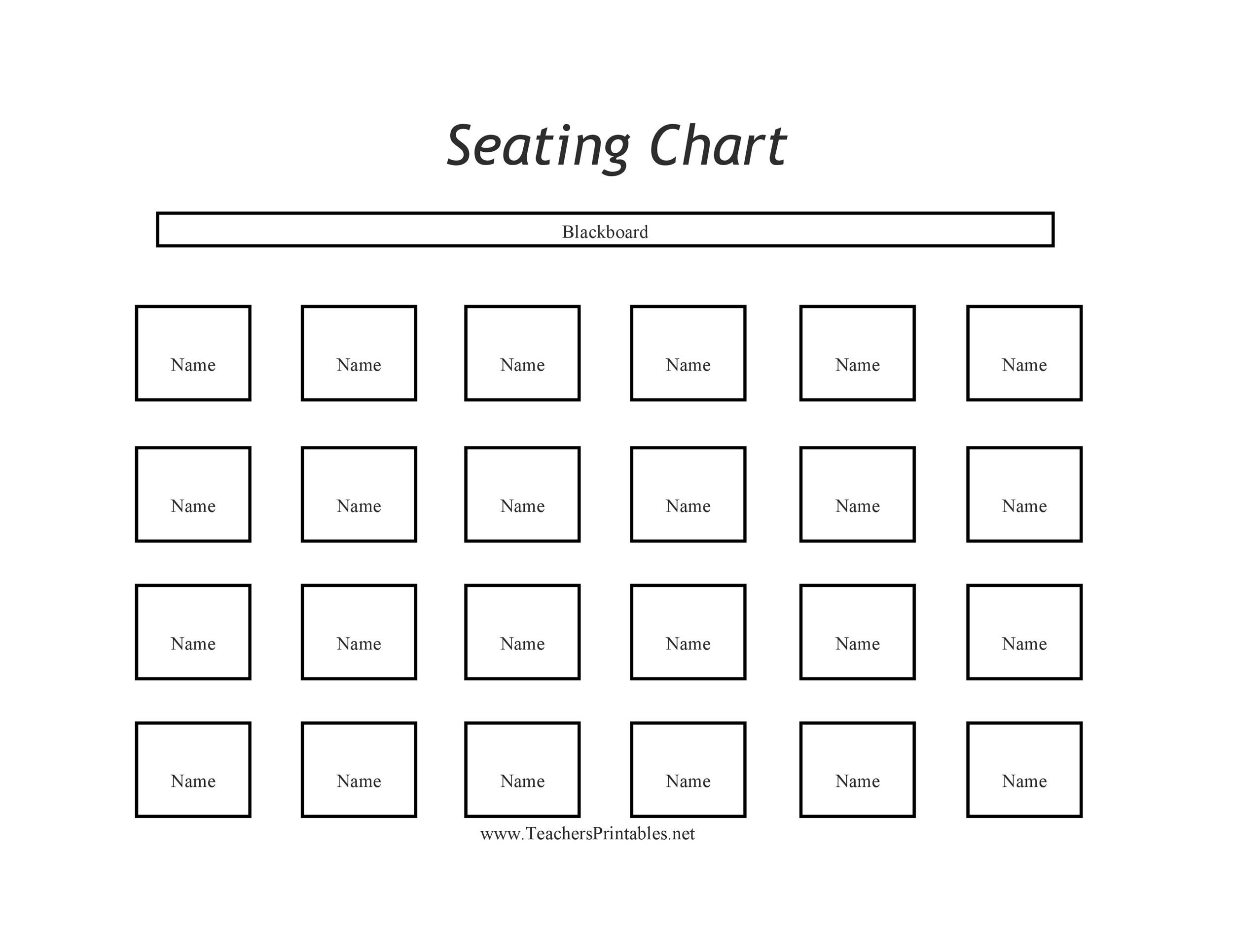 Satisfactory image with printable seating chart template