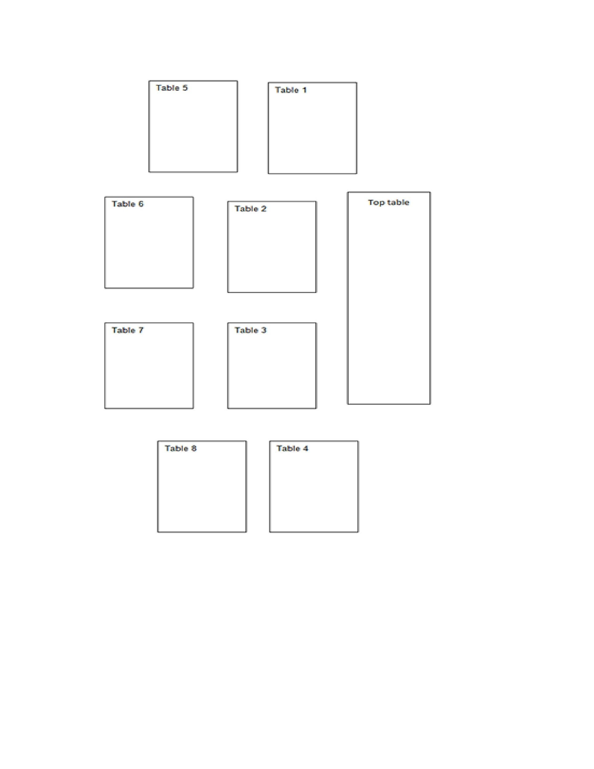 Free seating chart template 39