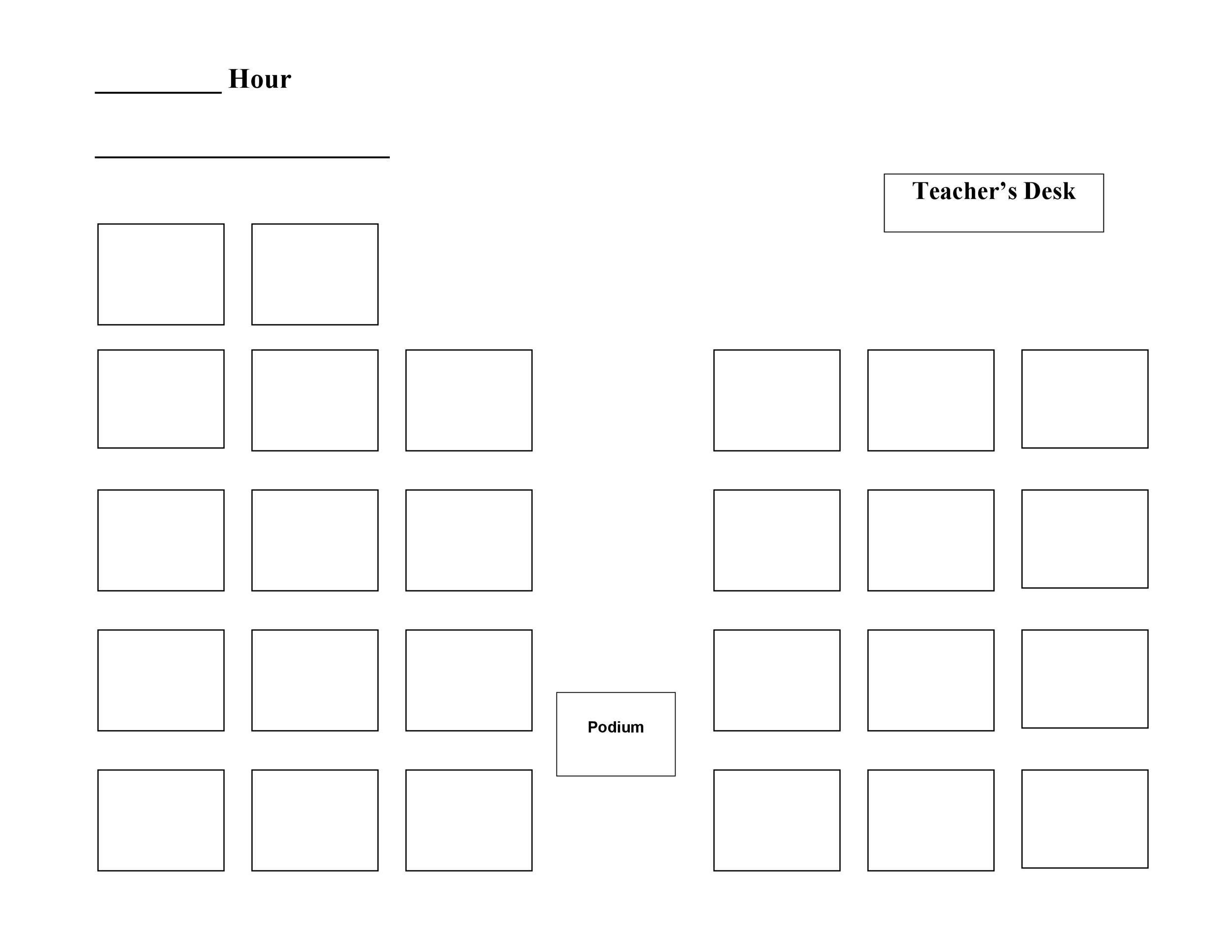 Free seating chart template 41