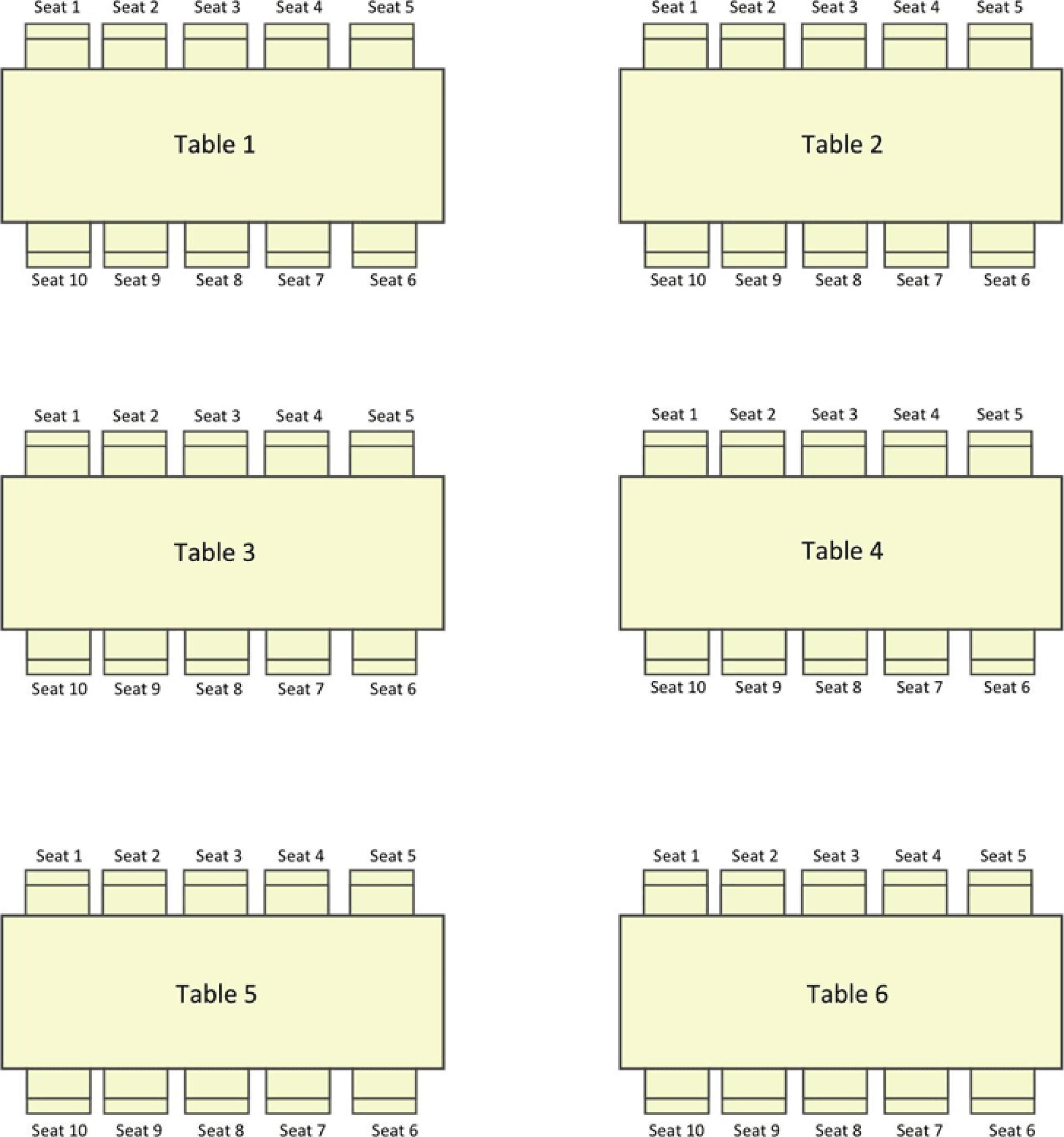 40+ Great Seating Chart Templates (Wedding, Classroom + More