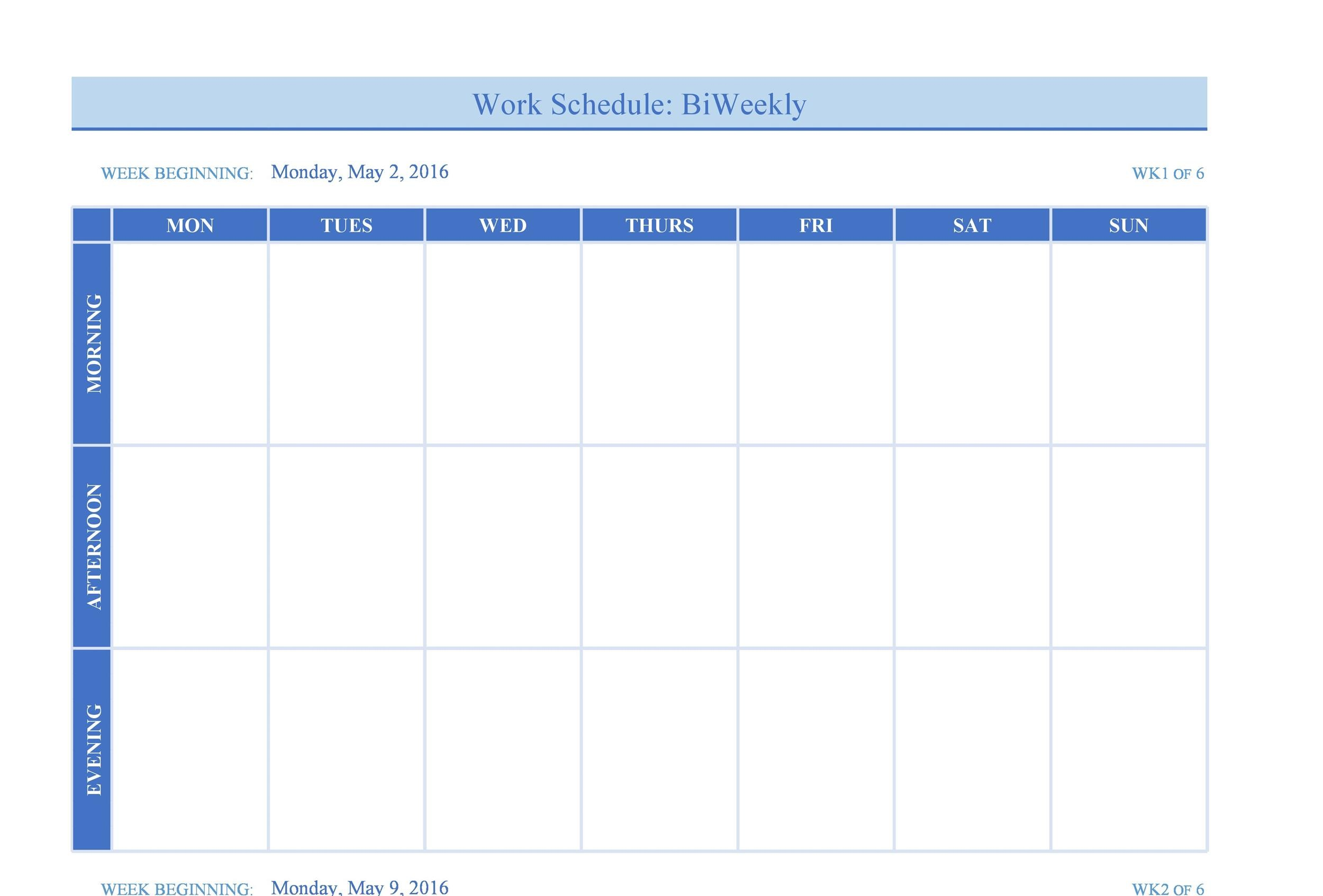 Excel Weekly Calendar Hour Schedule Template Weekly Hour Calendar
