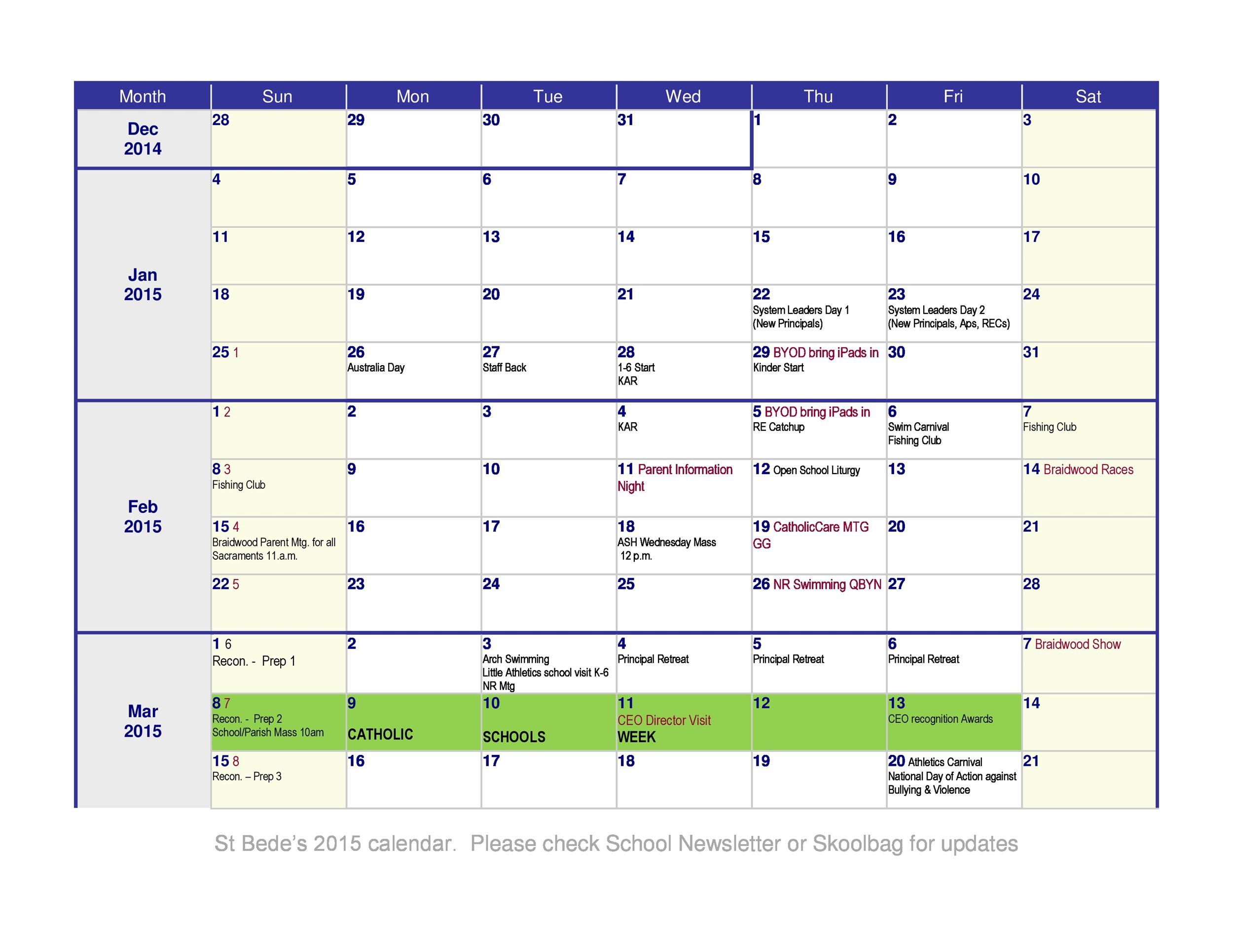 Download Calendar Template from templatelab.com