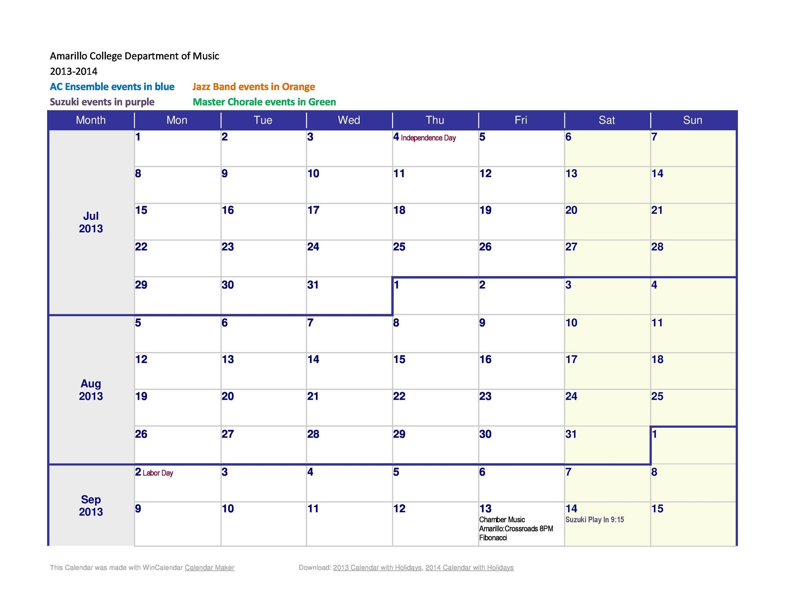 Free weekly calendar template 24