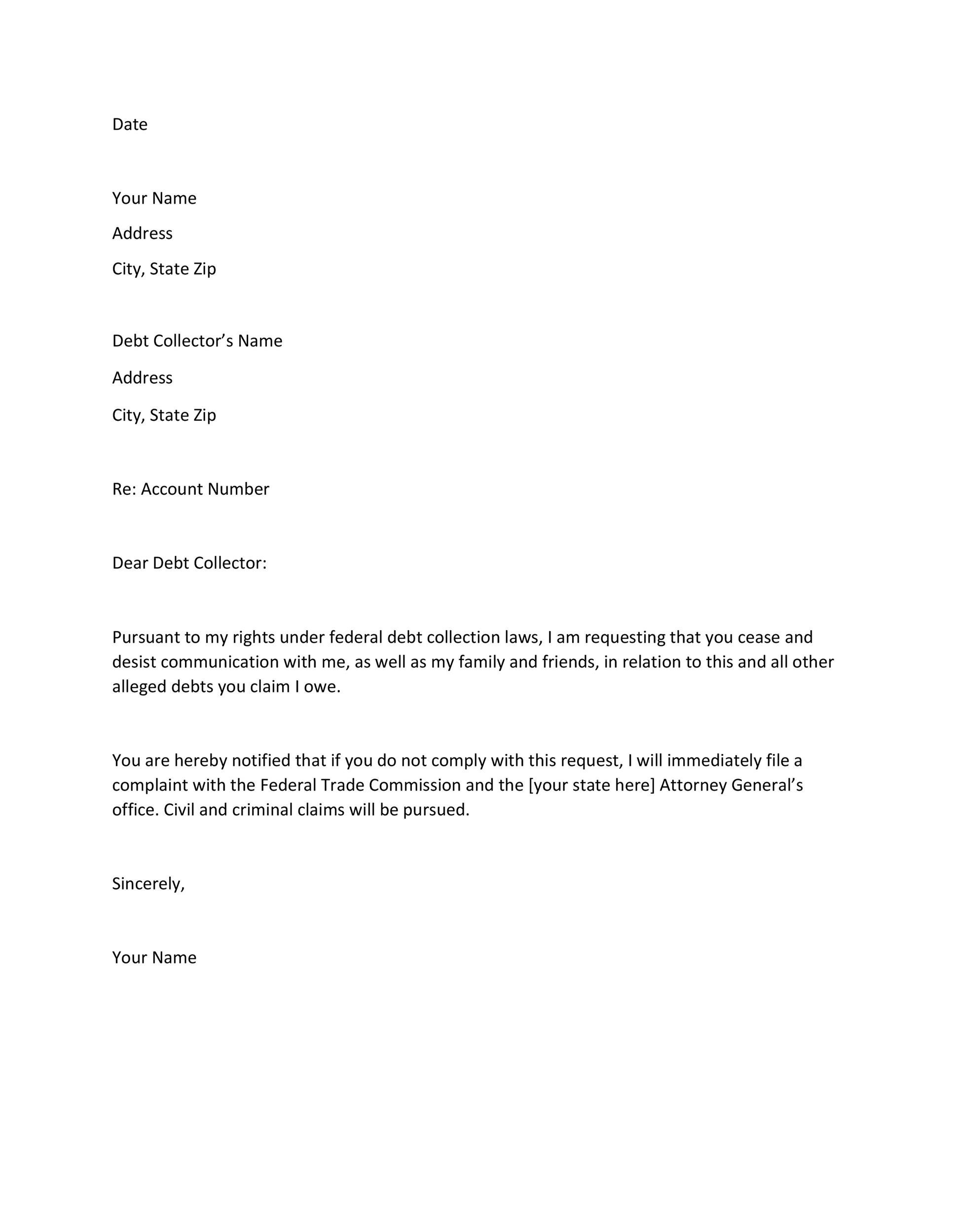 30 cease and desist letter templates free template lab - Sample Technical Manager Cover Letter