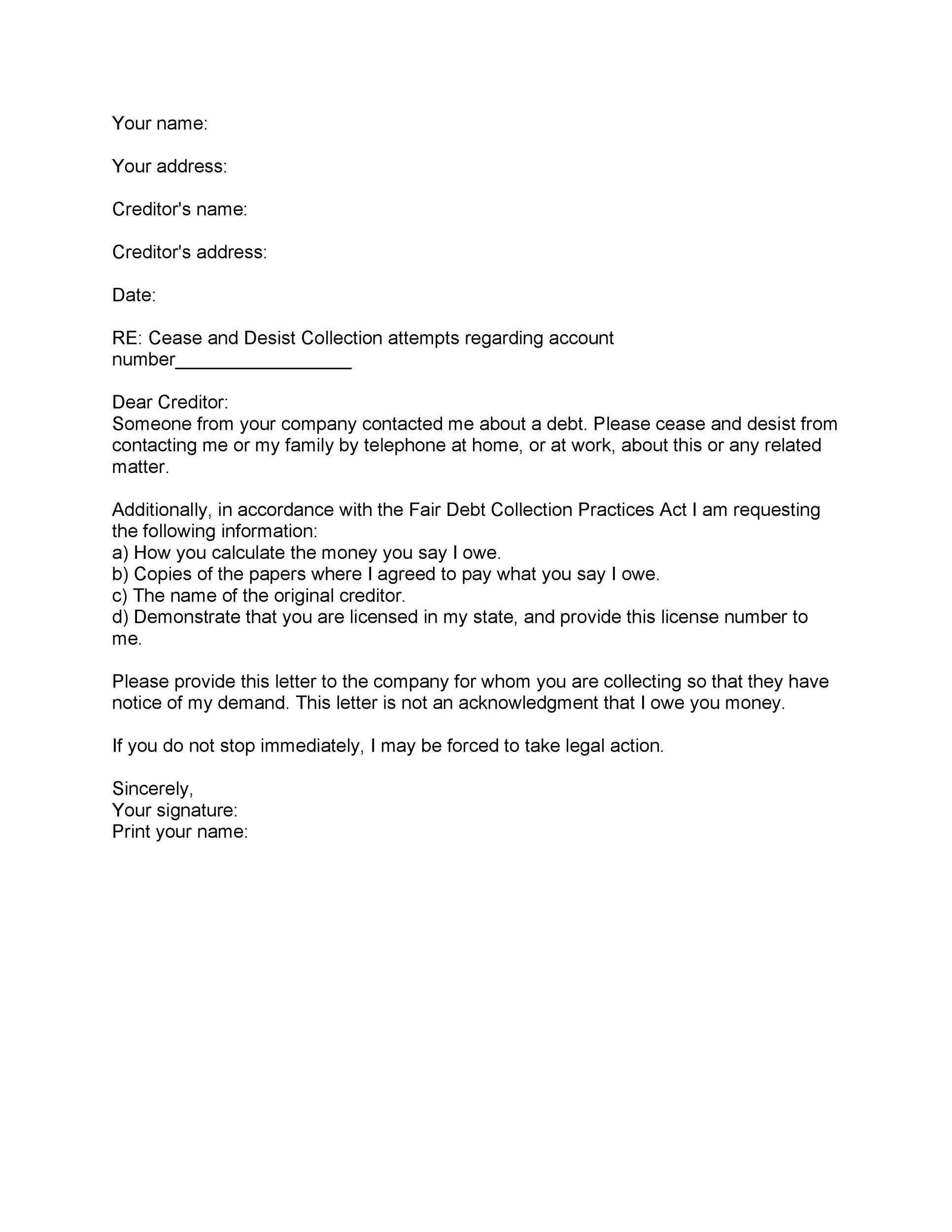 Demand Letter for Money Owed