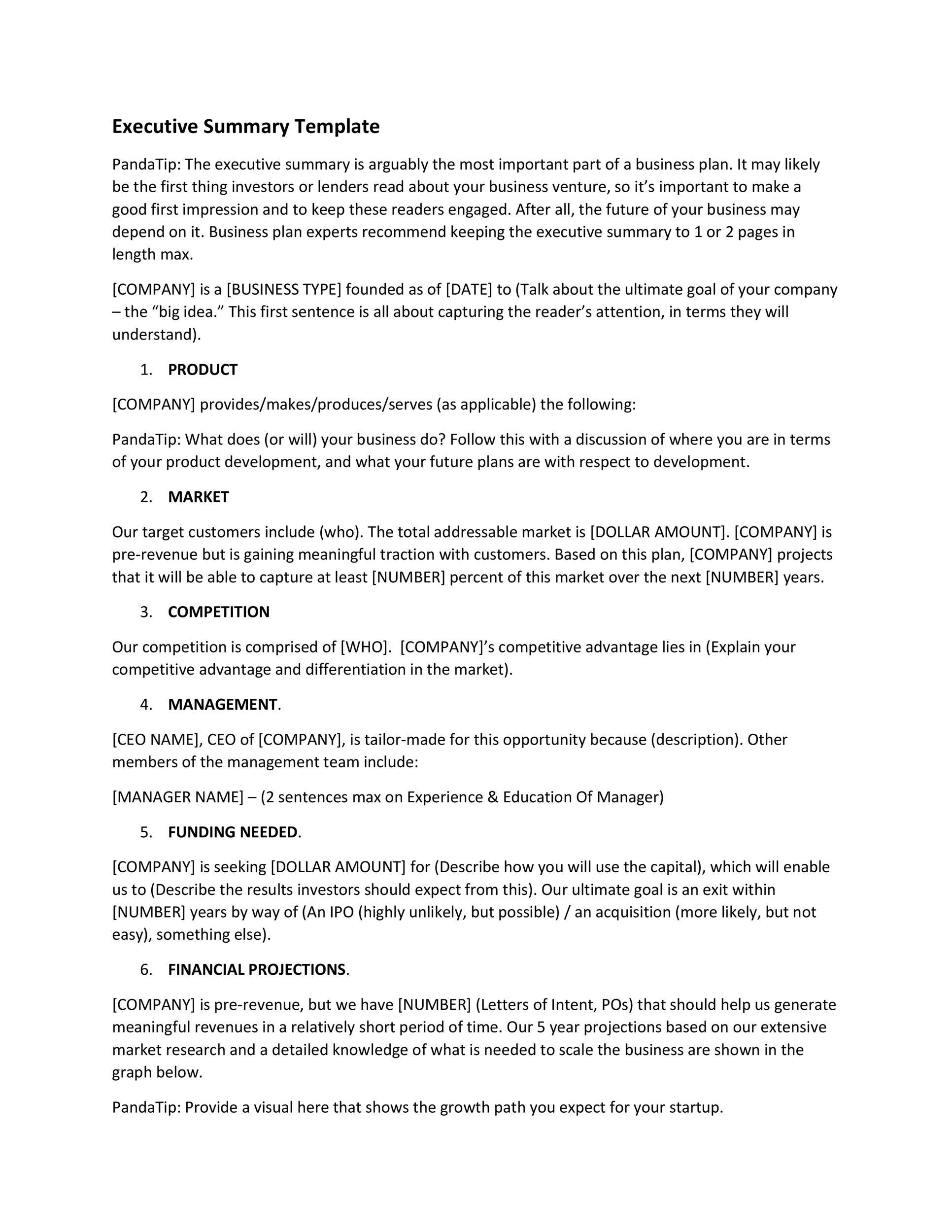 Executive Summary Template 04