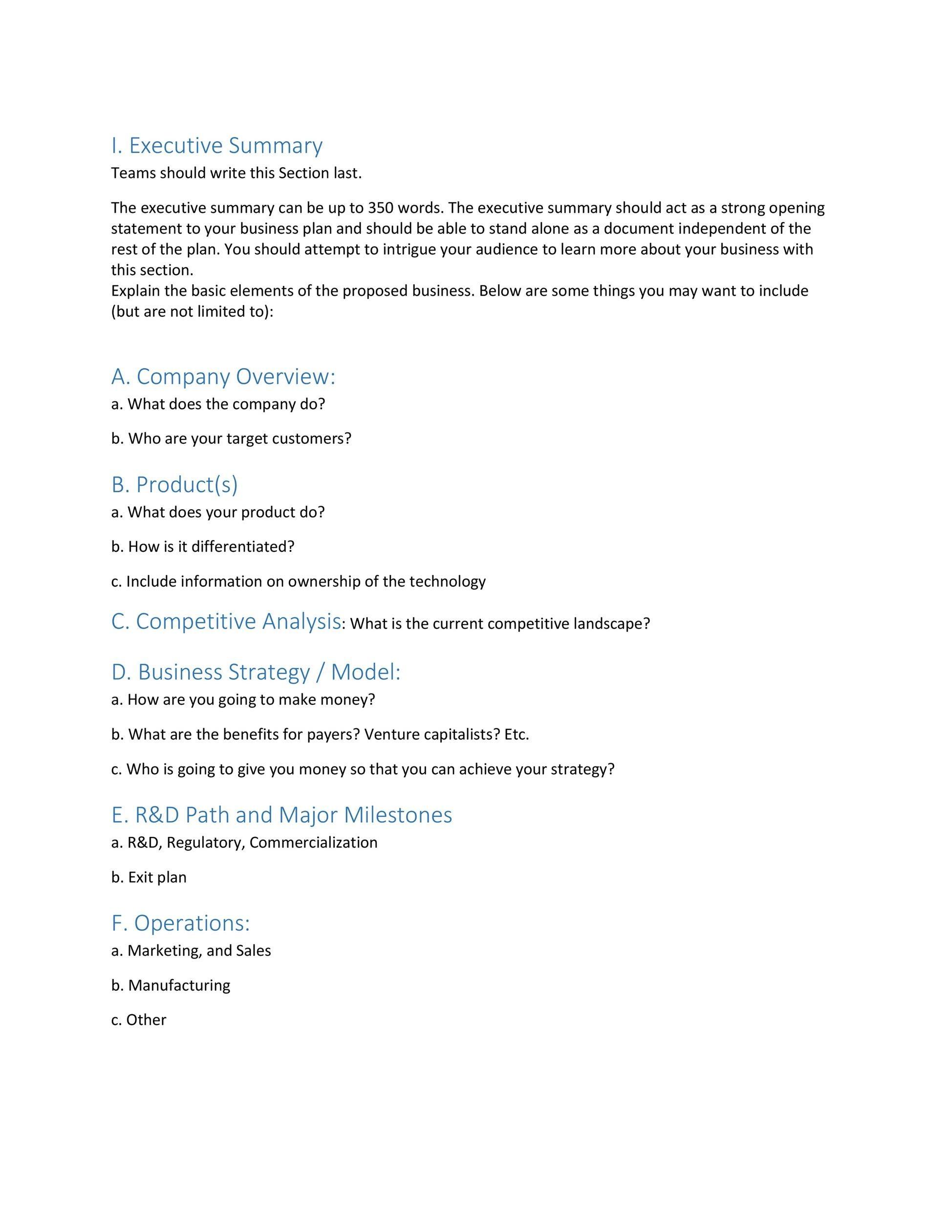 Free Executive Summary Template 06