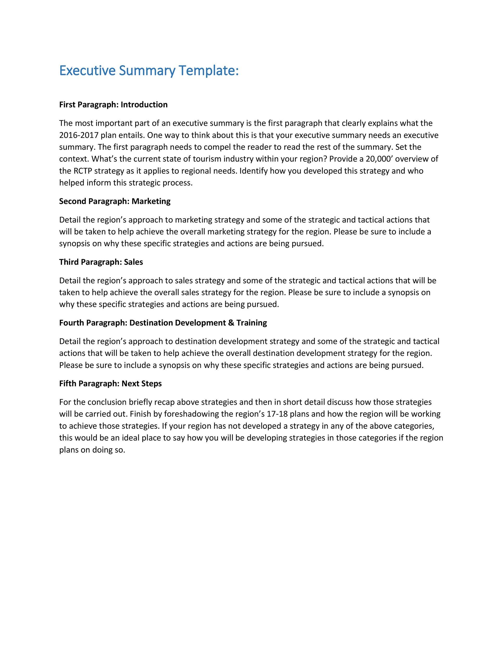 Free Executive Summary Template 12