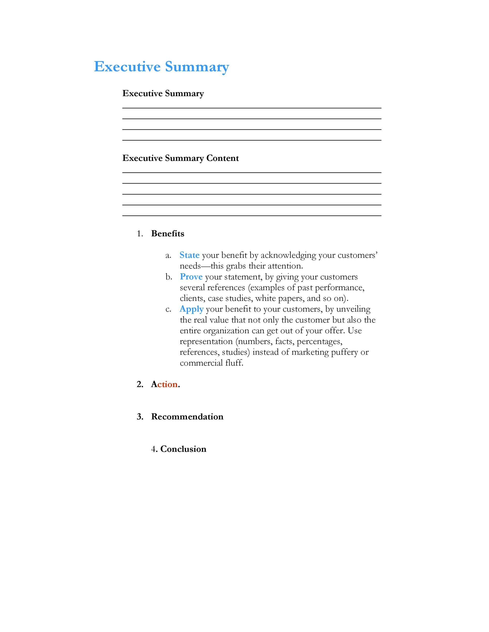 Executive Summary Template 16