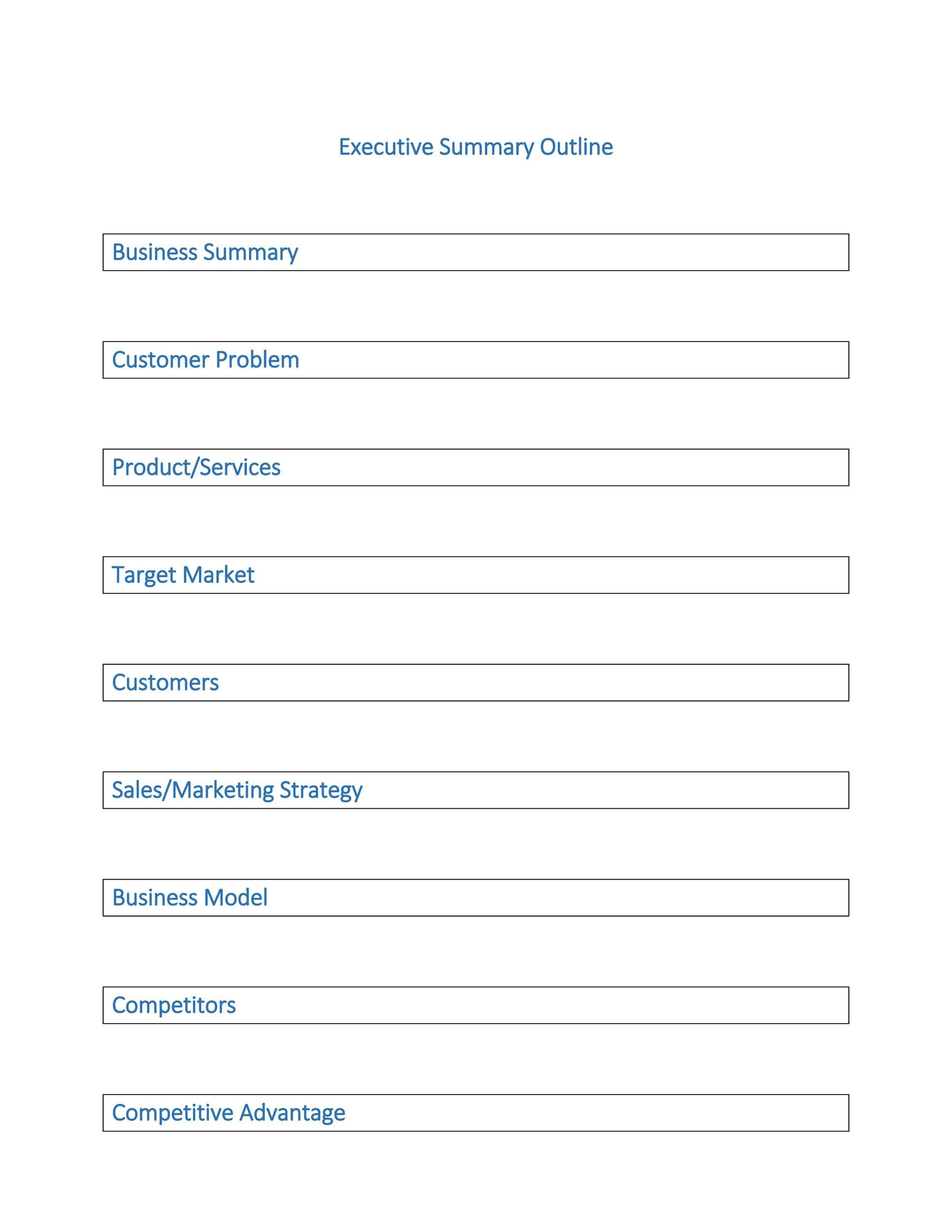 Executive Summary Template 17