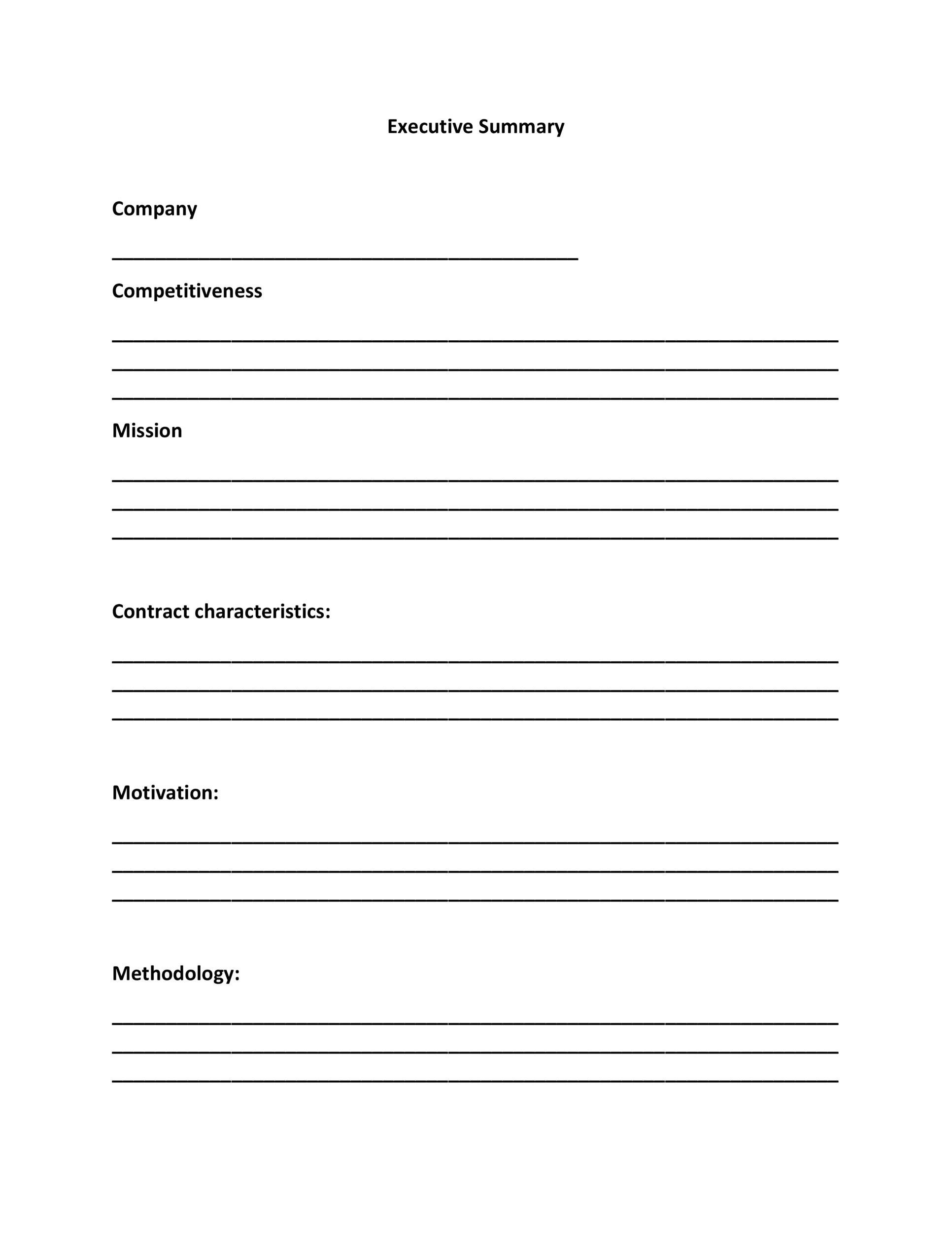 Free Executive Summary Template 21