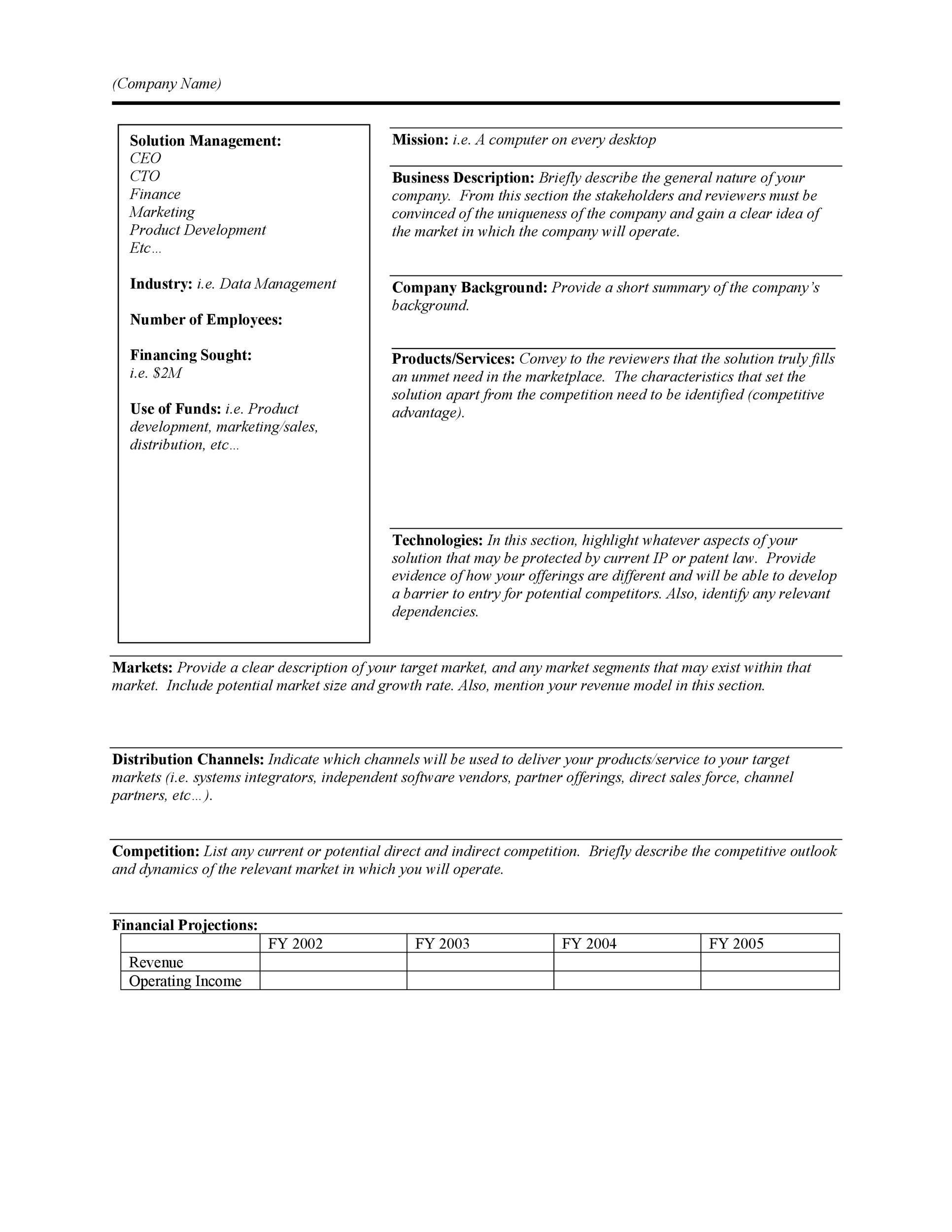 Free Executive Summary Template 25