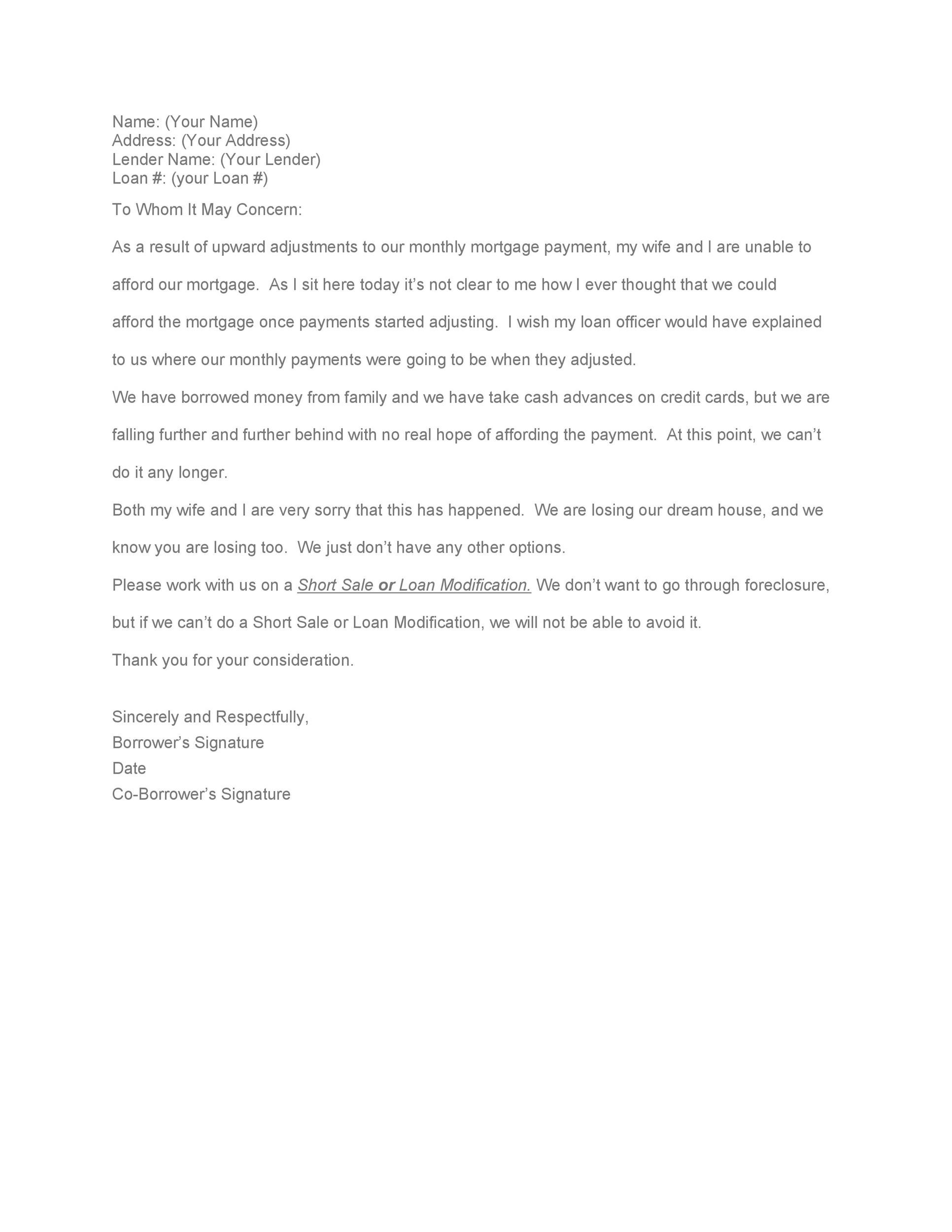 Free Hardship Letter Template 22