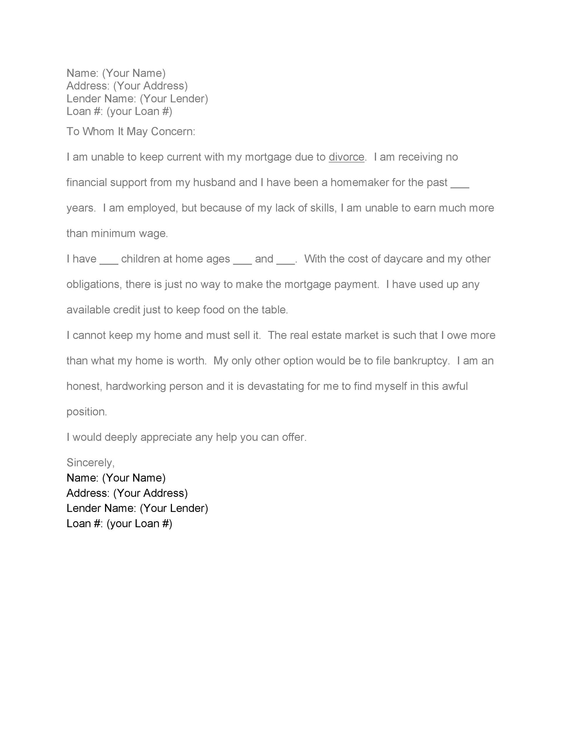Free Hardship Letter Template 33