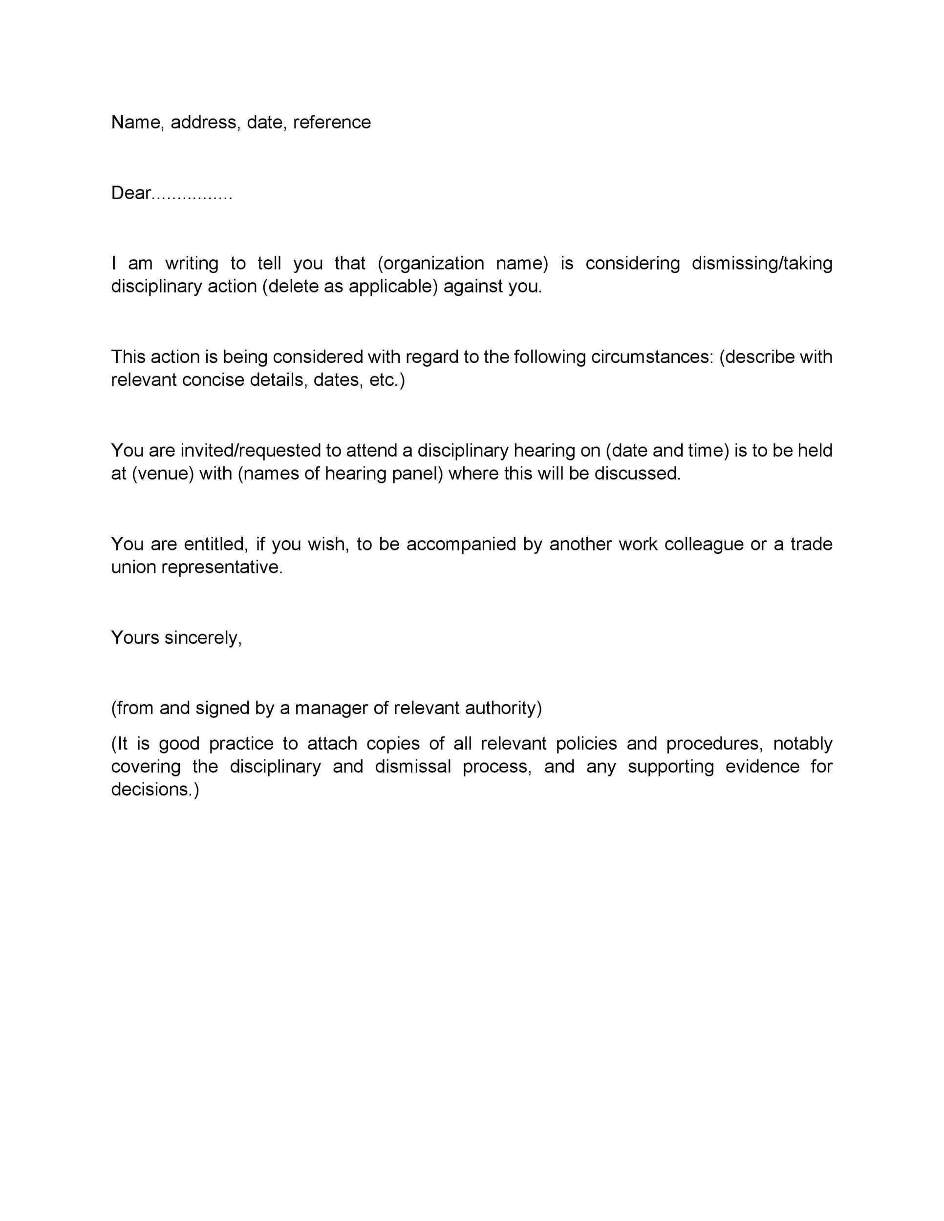 Free Termination Letter Template 20