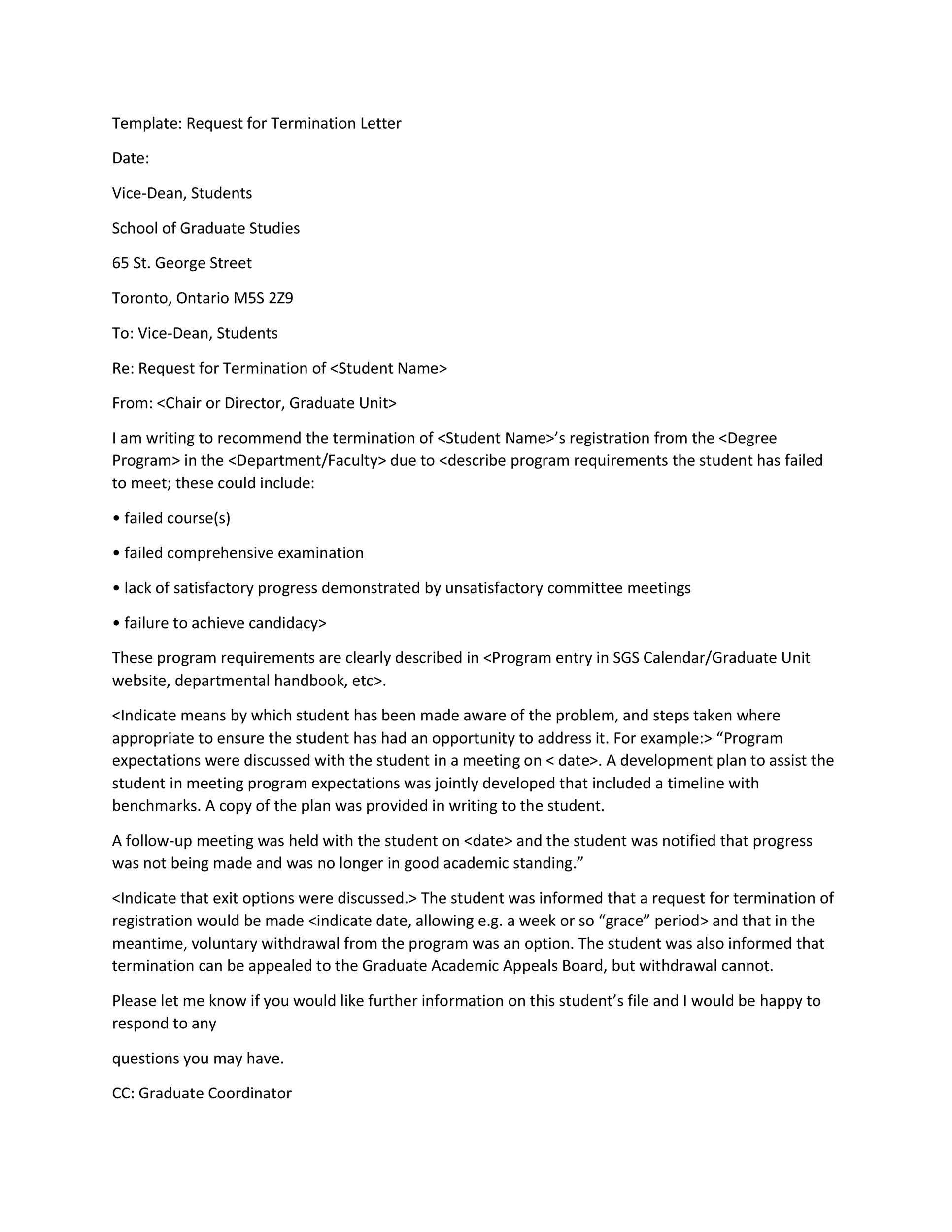 Free Termination Letter Template 22