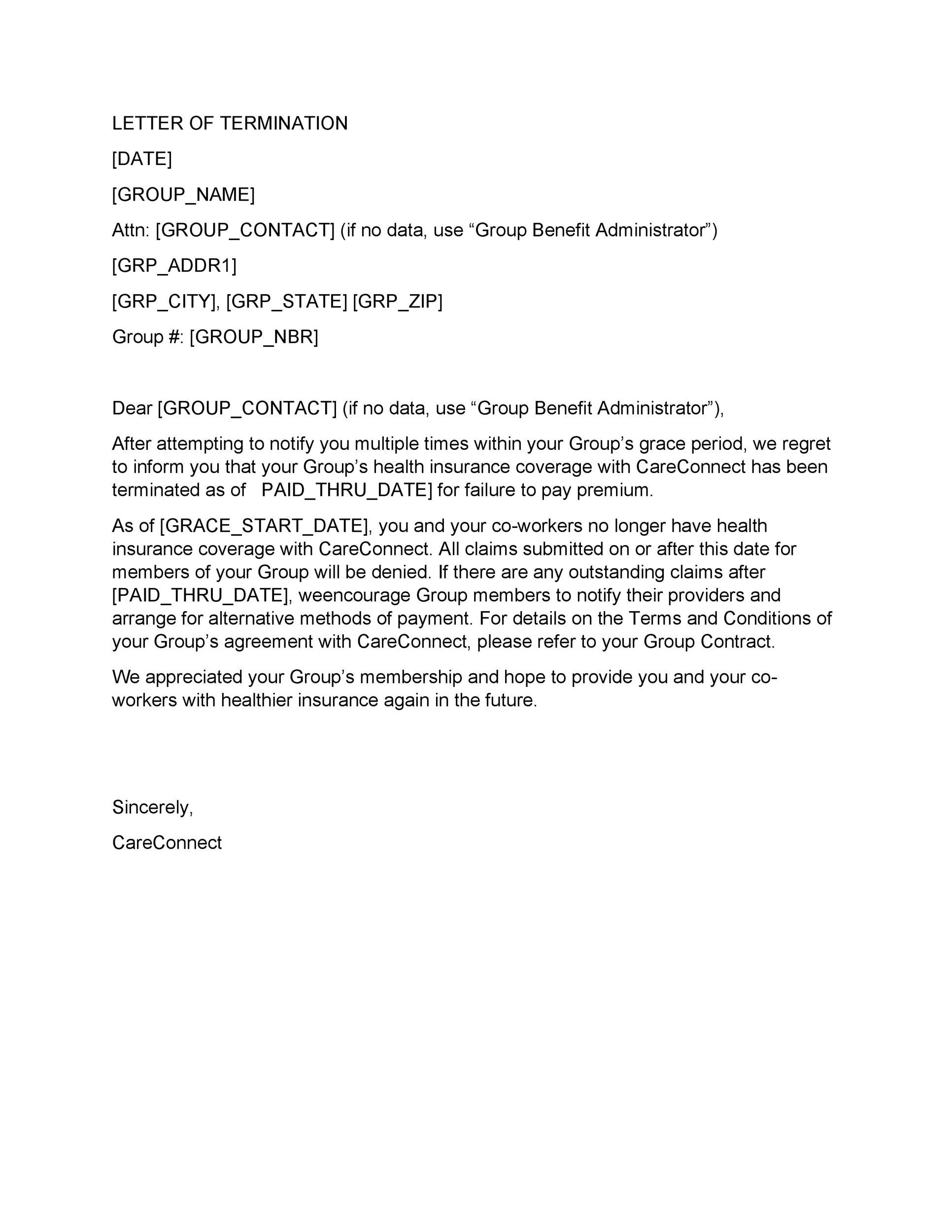 Free Termination Letter Template 33