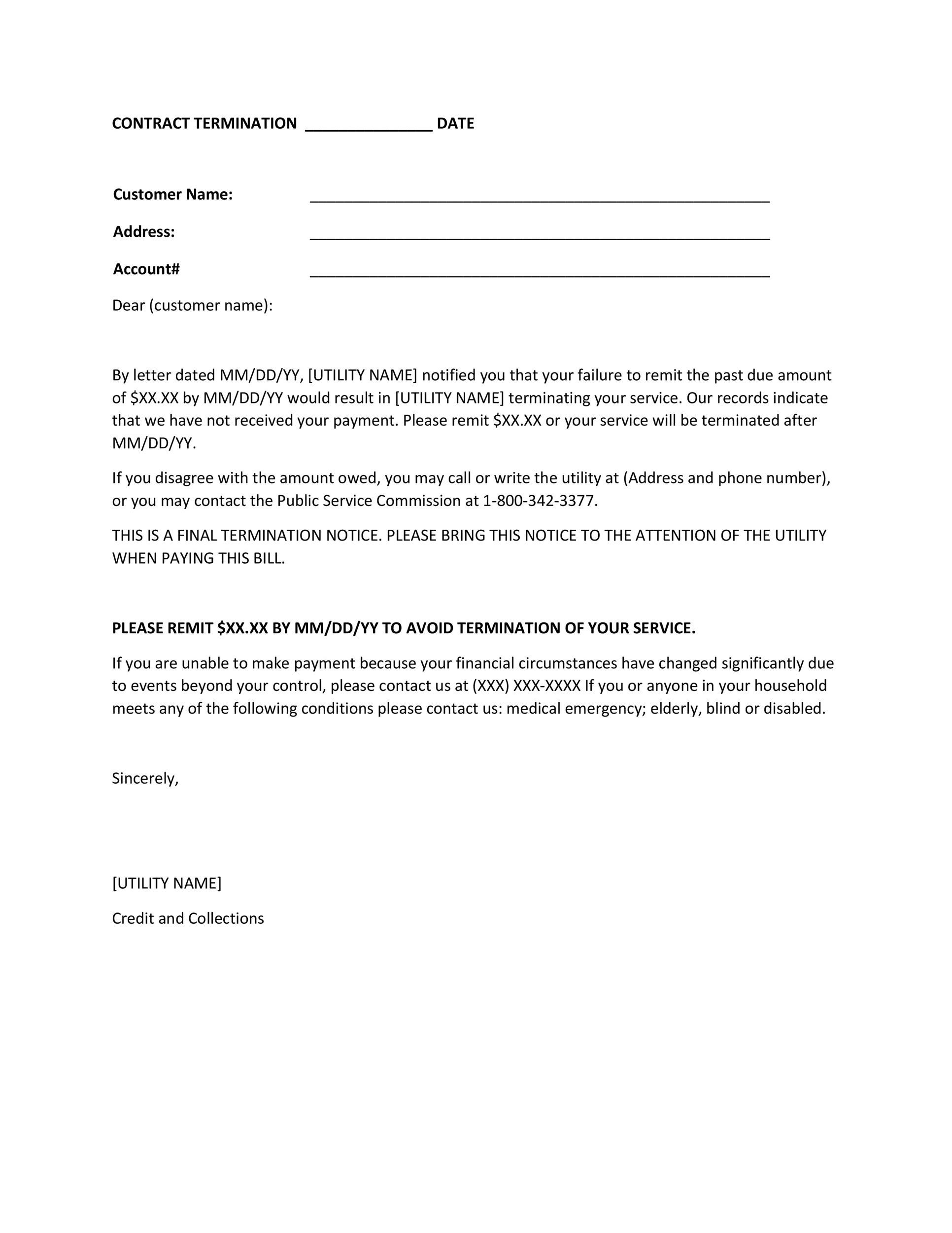 Free Termination Letter Template 34