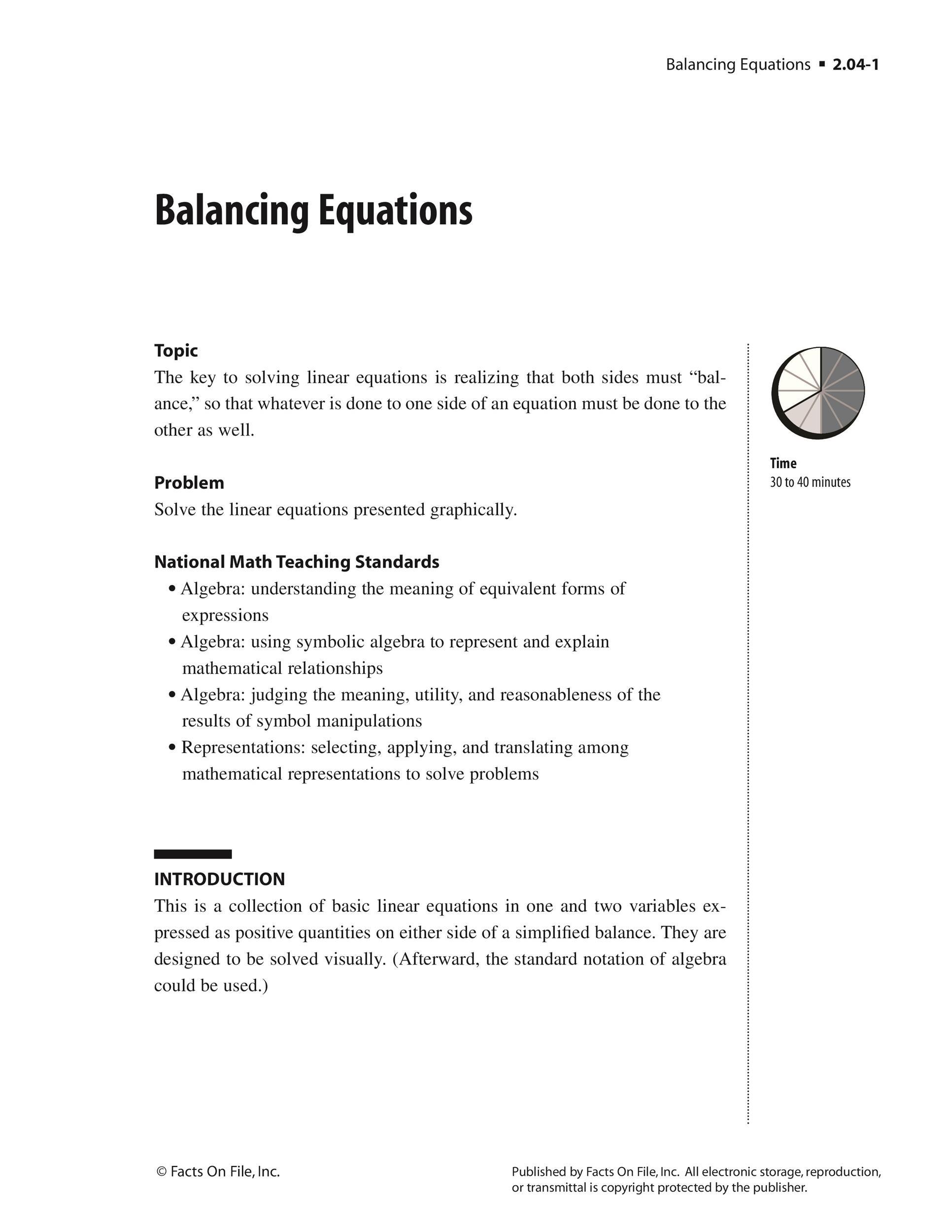 Free balancing equations 16